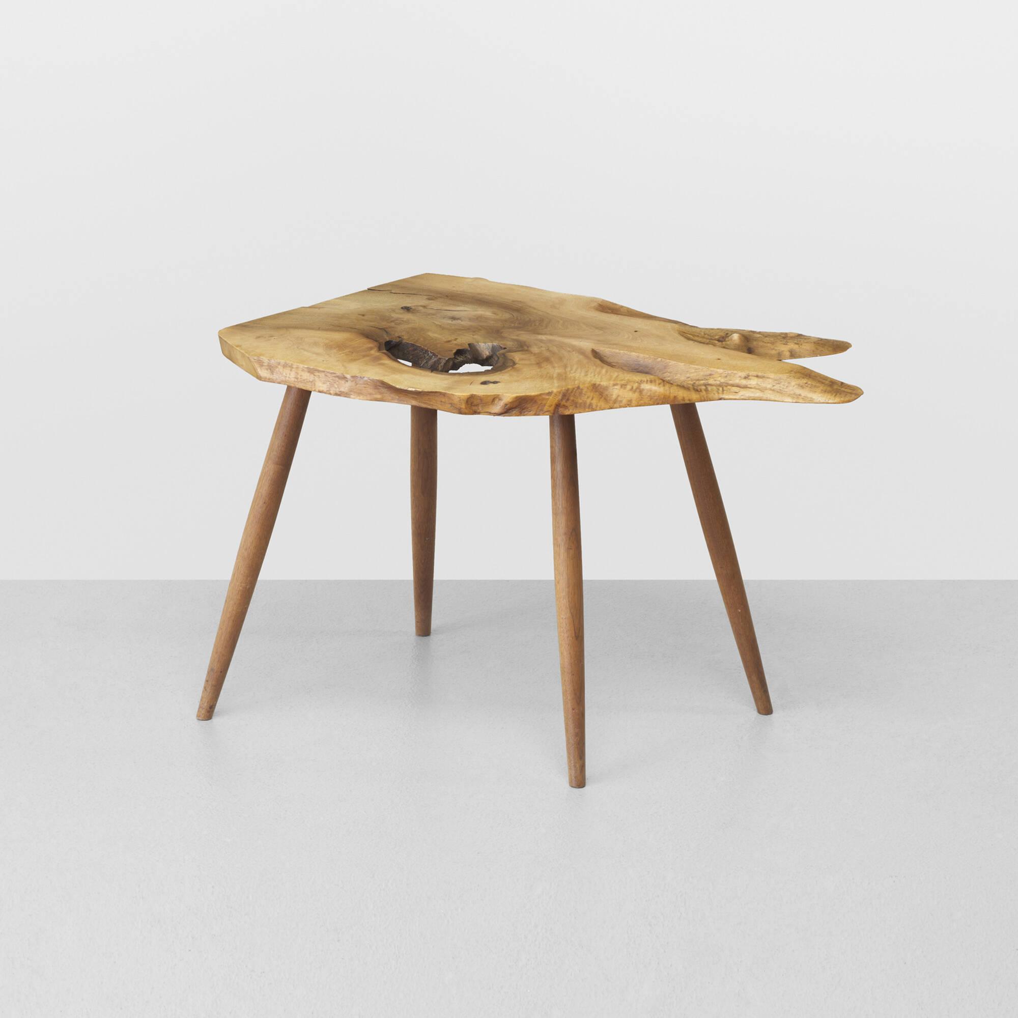 Beau 246: George Nakashima / Slab End Table (1 Of 4) ...