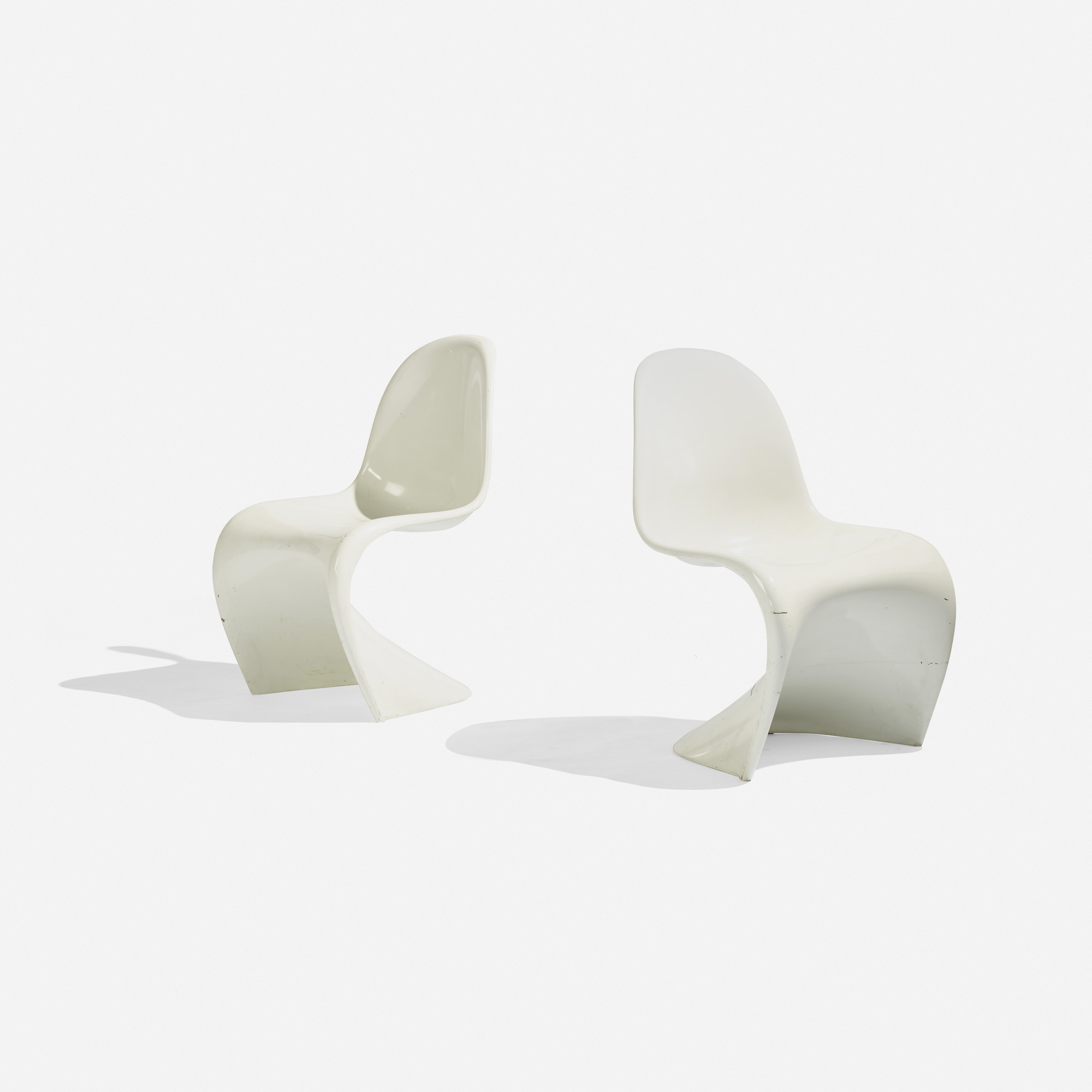 246 Verner Panton Panton chairs pair Scandinavian Design 18