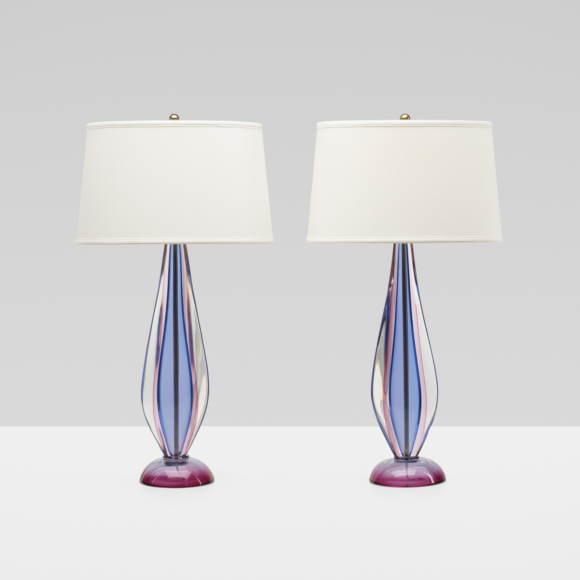 246: Archimede Seguso / table lamps, pair (2 of 3)