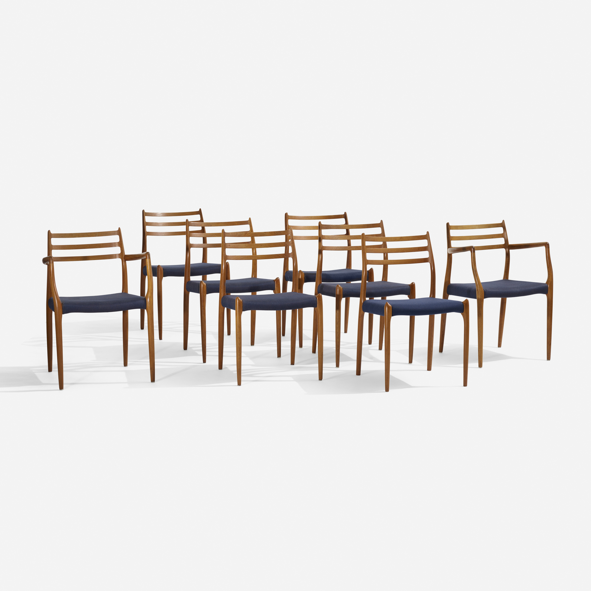 247: Niels O. Møller / dining chairs, set of eight (1 of 4)