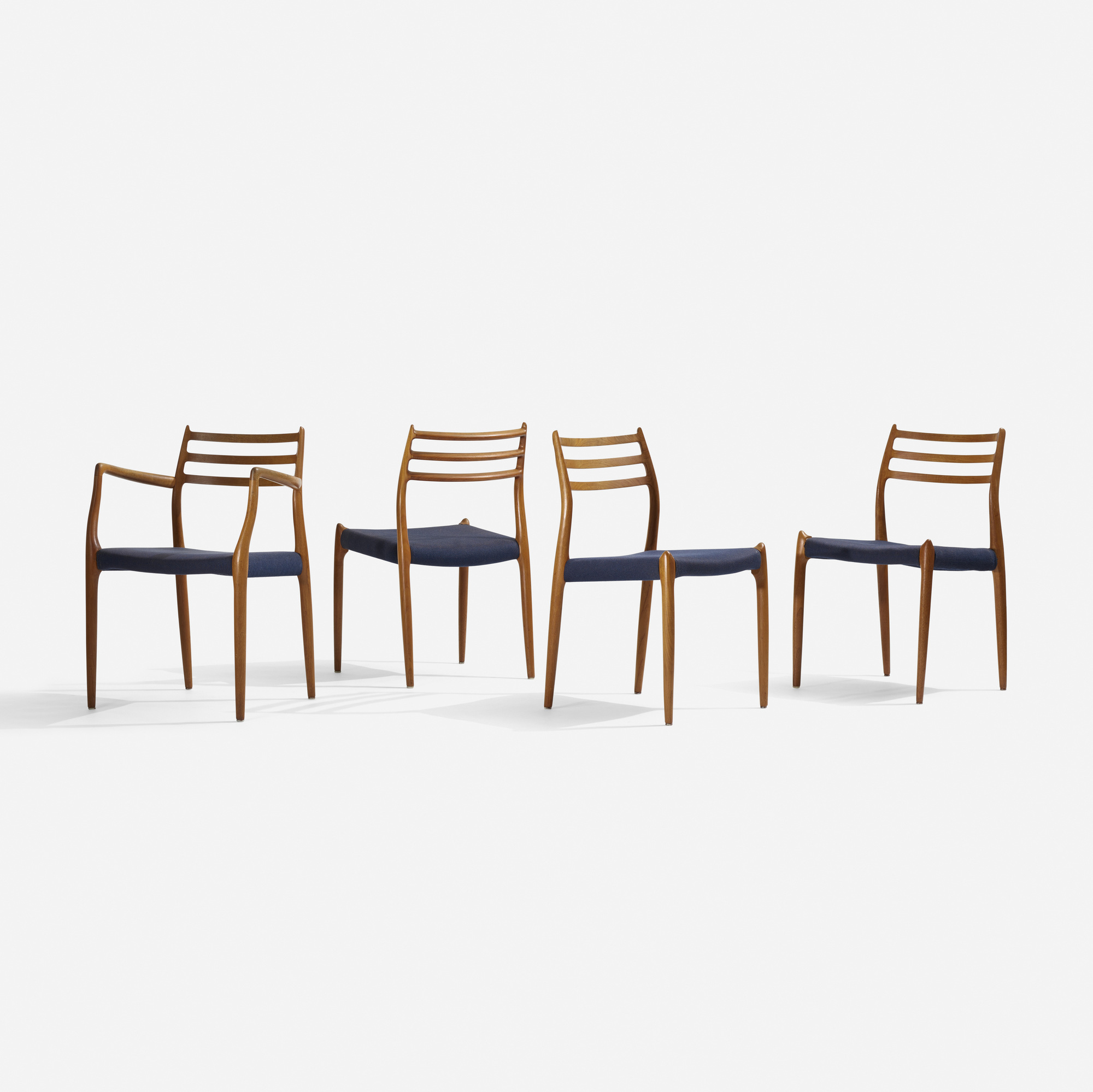 247: Niels O. Møller / dining chairs, set of eight (3 of 4)