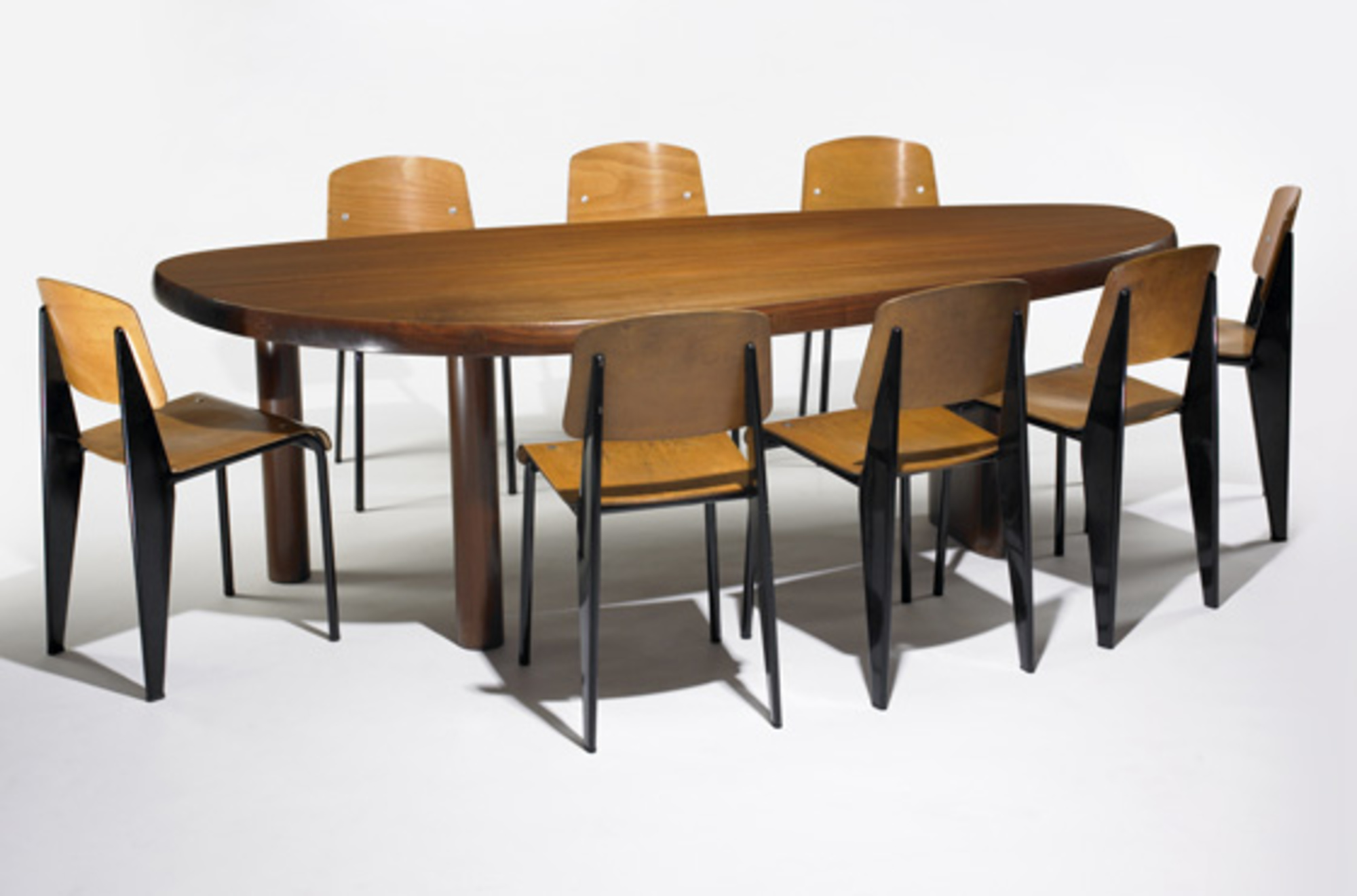 248 Charlotte Perriand Forme Libre Dining Table Important