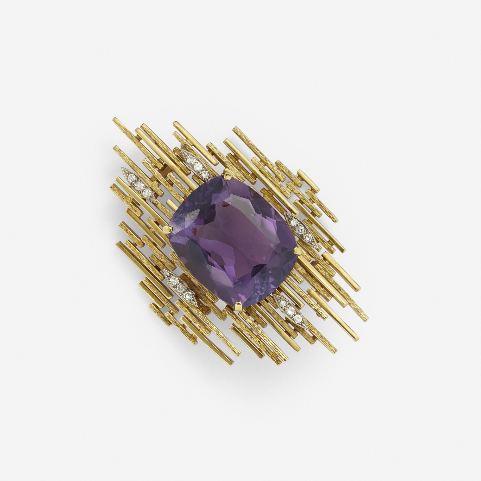 auctions a april gold amethyst stern jewels and auction brooch diamond of wright h