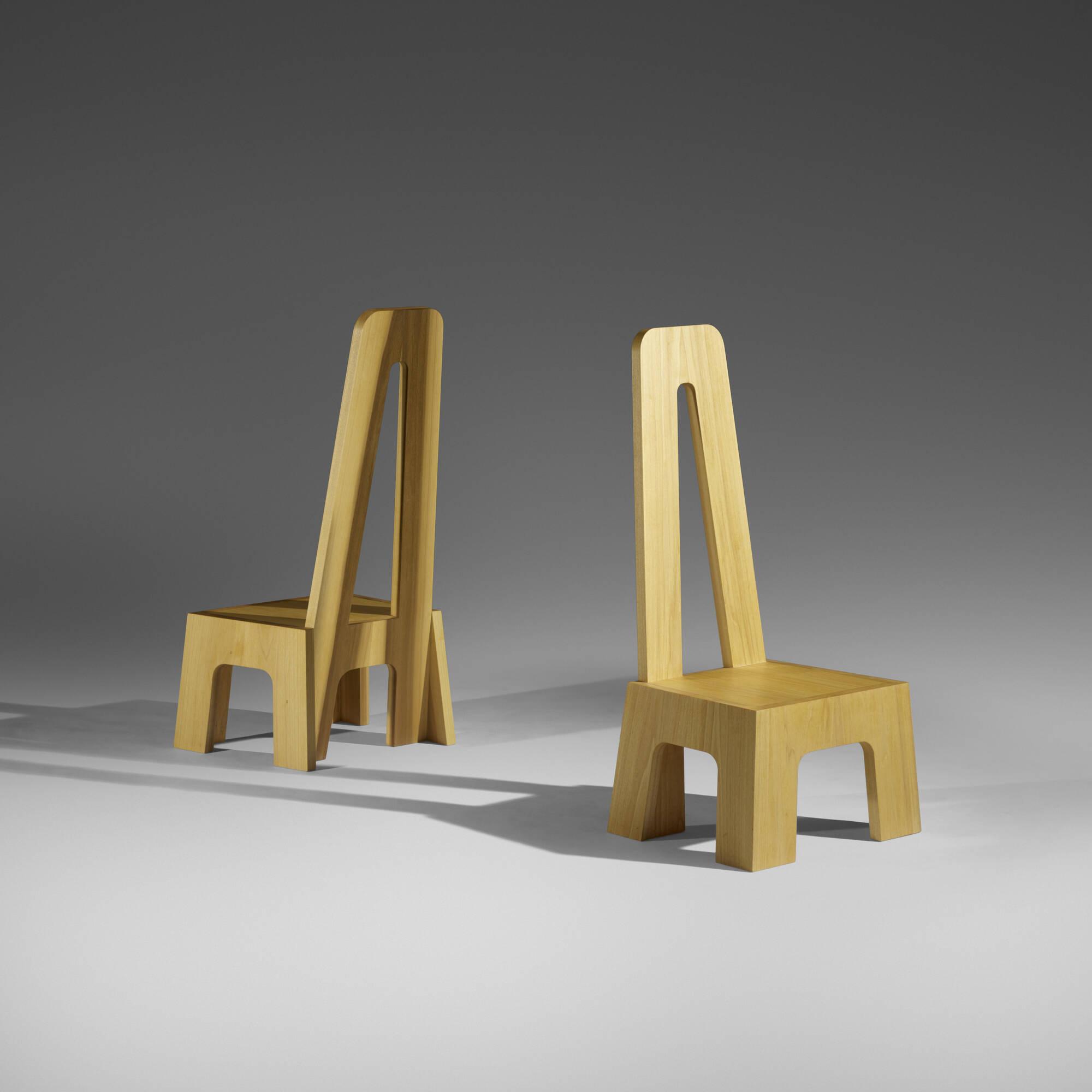 251: Richard Tuttle / Mesa chairs, pair (1 of 3)