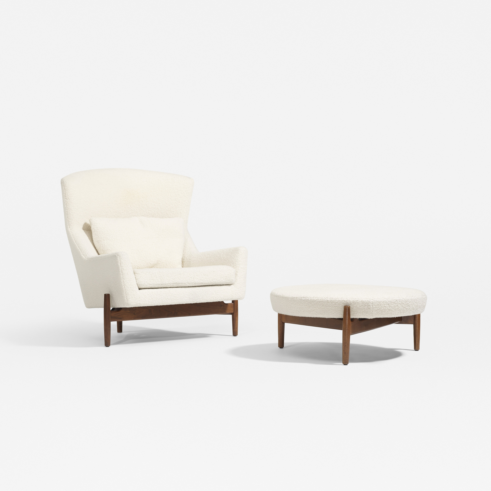 Exceptional 251: Jens Risom / Lounge Chair And Ottoman (1 Of 4)