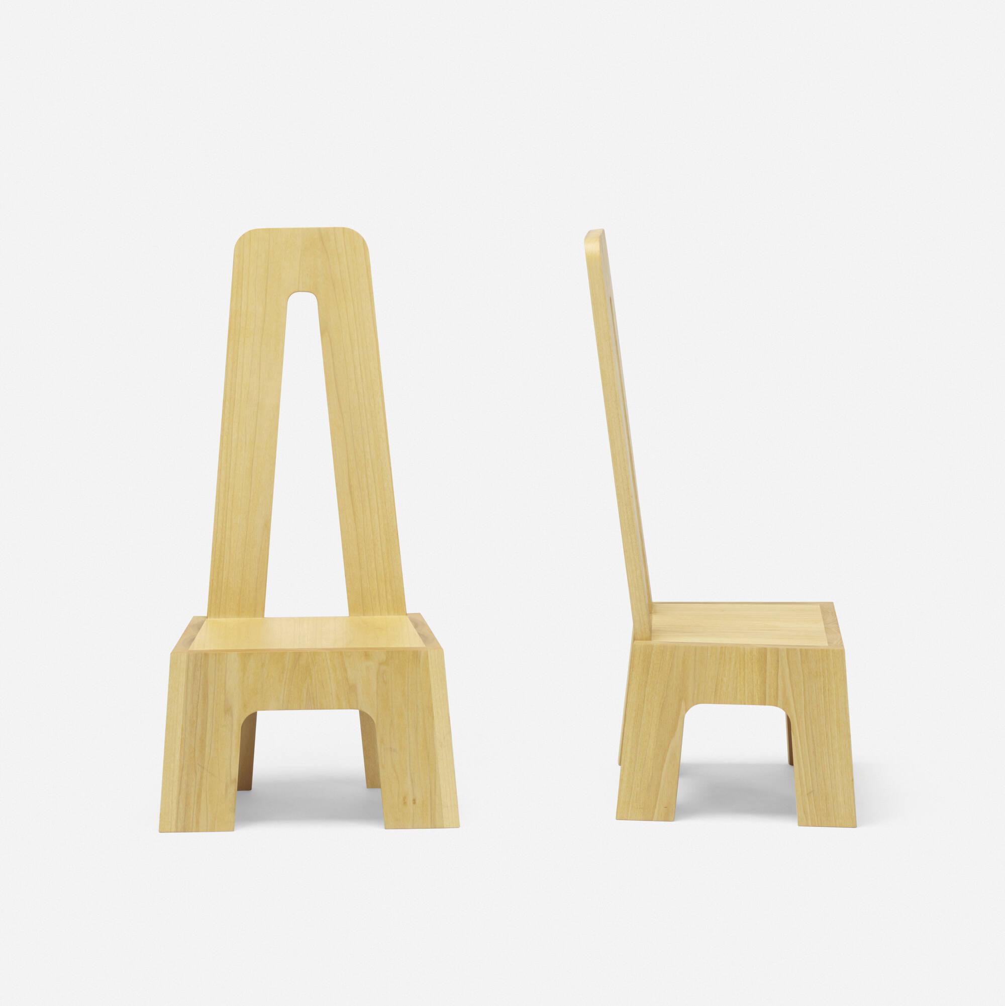 251: Richard Tuttle / Mesa chairs, pair (2 of 3)
