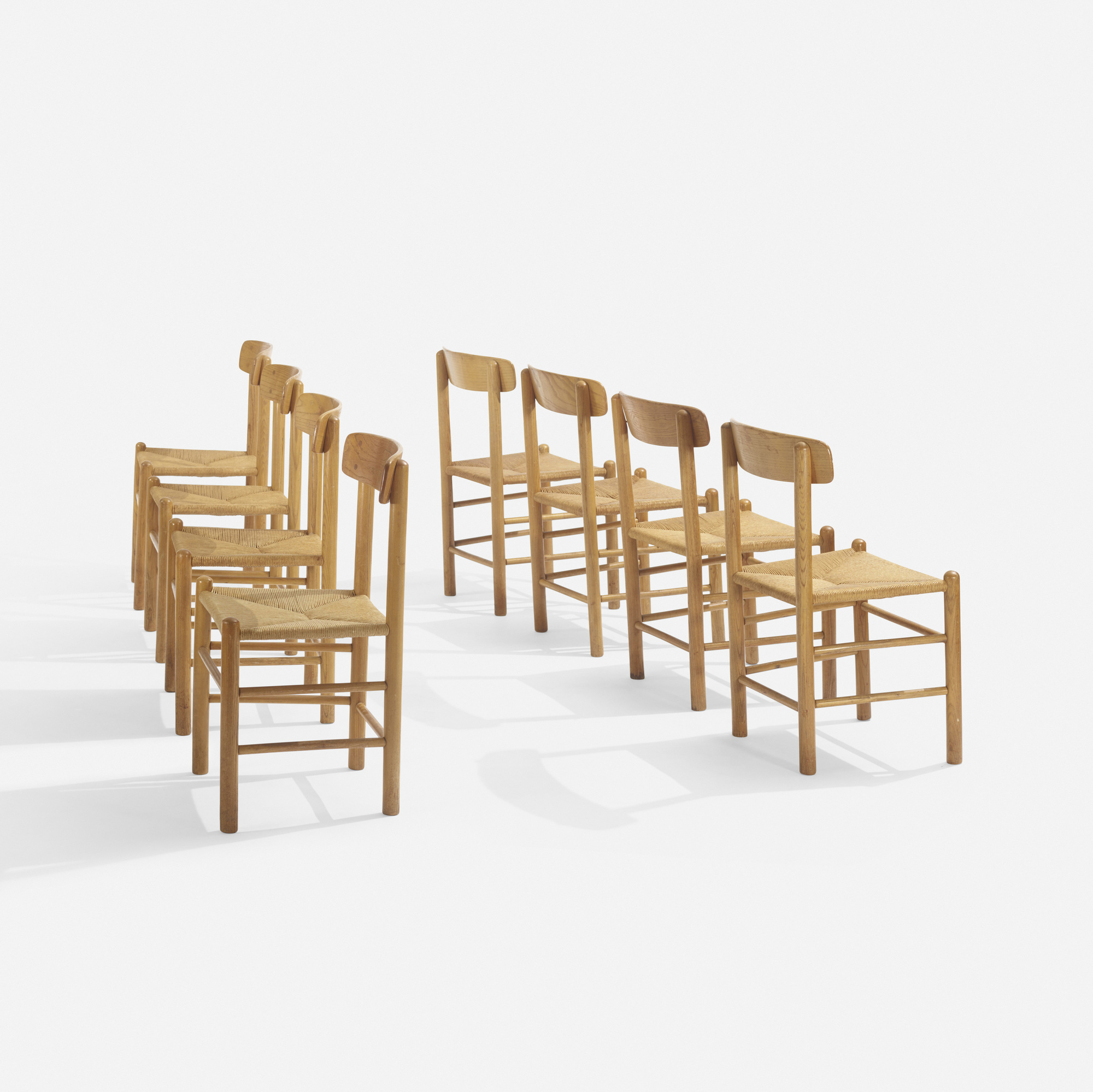 251: In the manner of Børge Mogensen / dining chairs, set of eight (2 of 3)