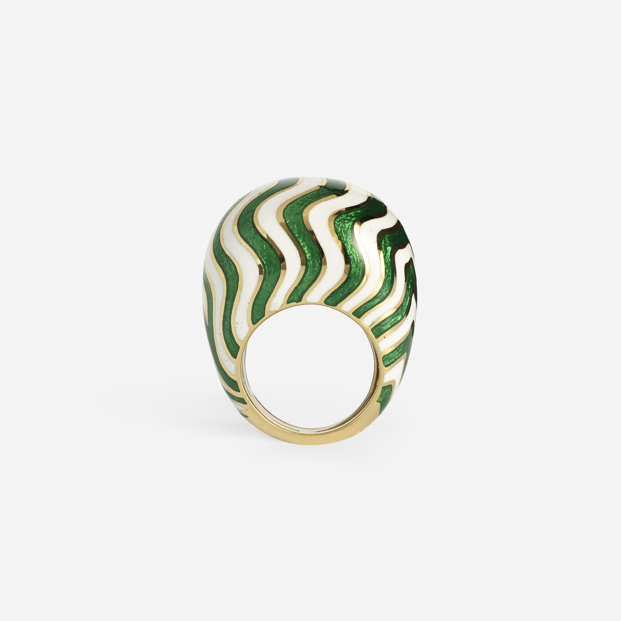 253: David Webb / A gold and enameled ring (1 of 2)