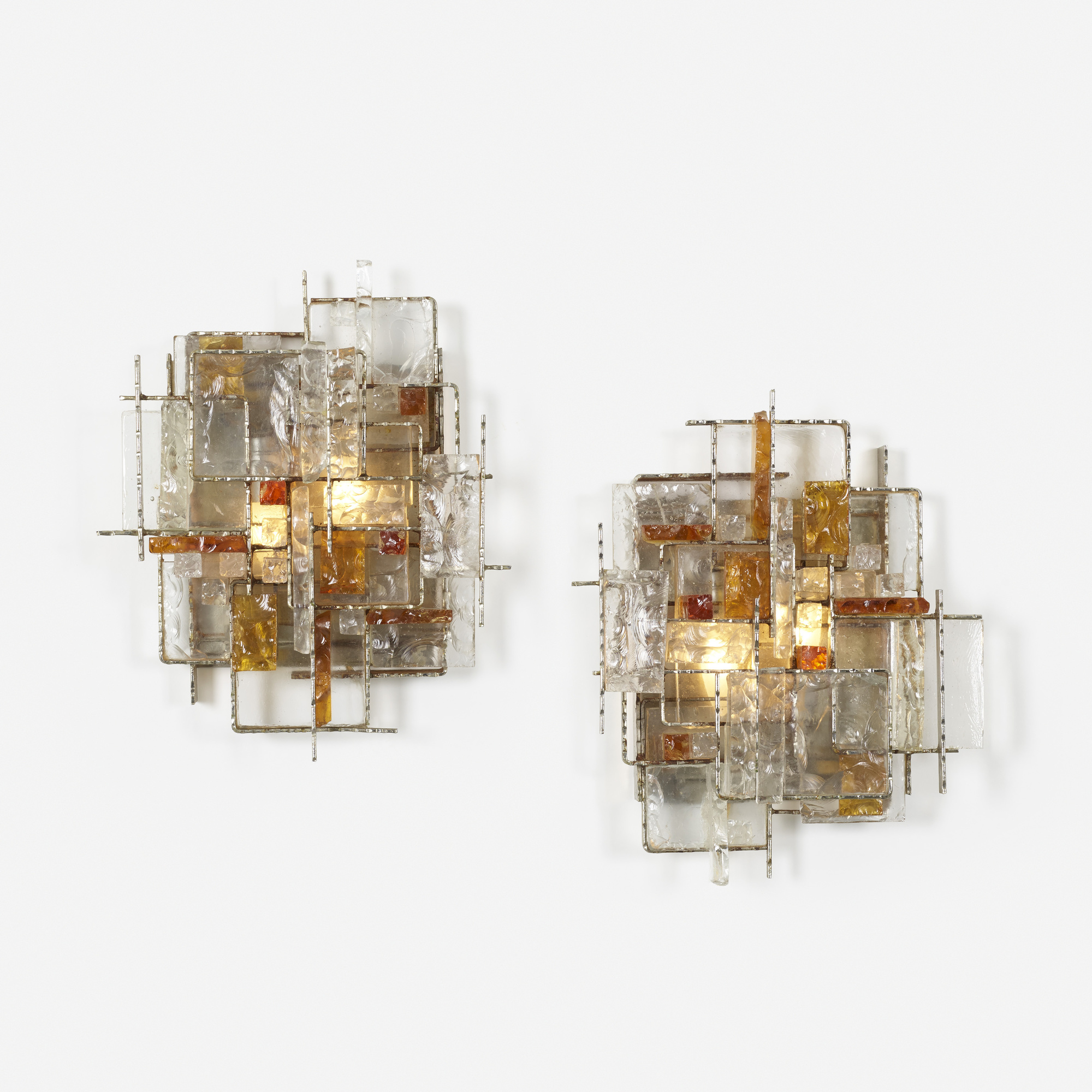 254: Poliarte / wall lights, pair (1 of 4)