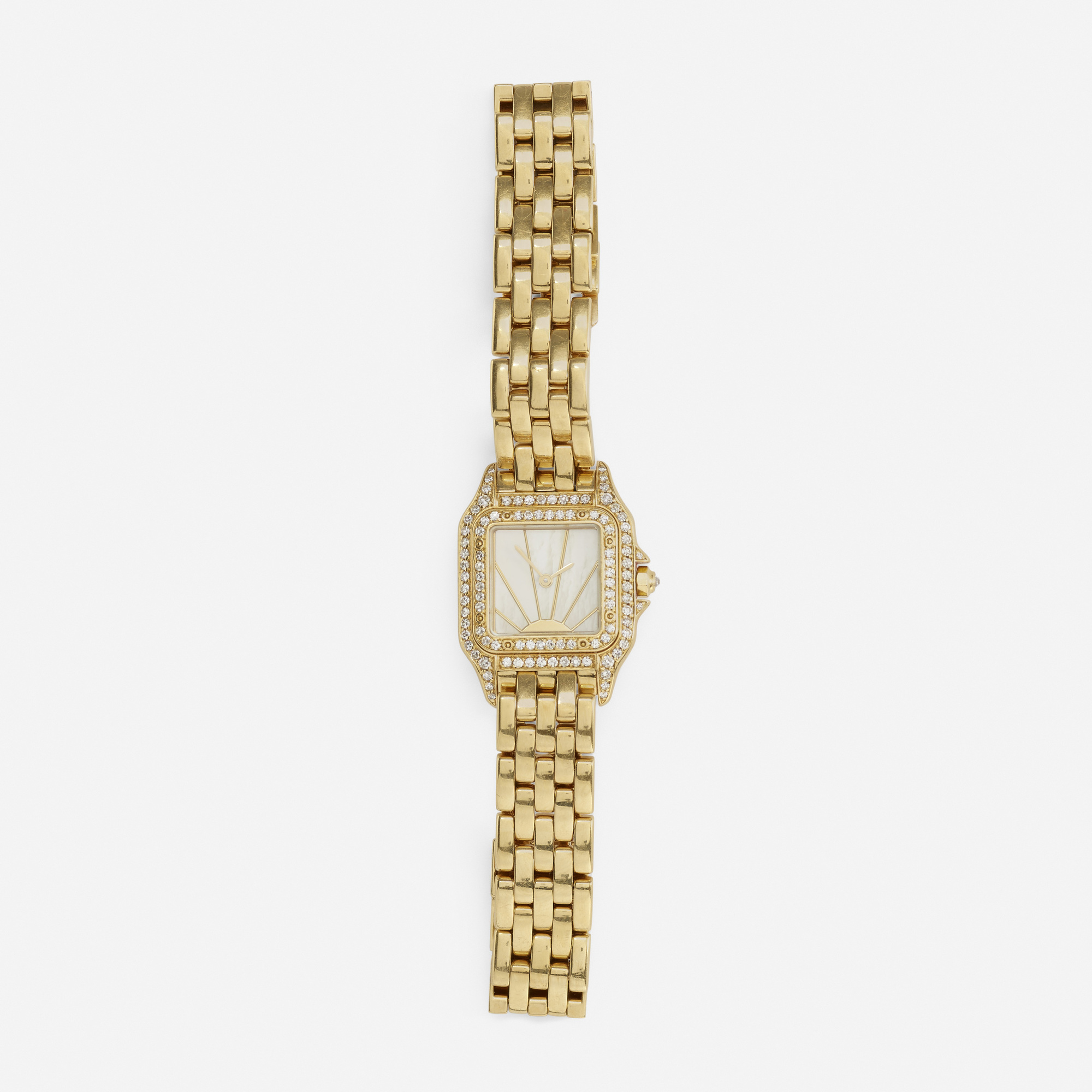 254: Cartier / A gold and diamond Panthere watch (1 of 1)