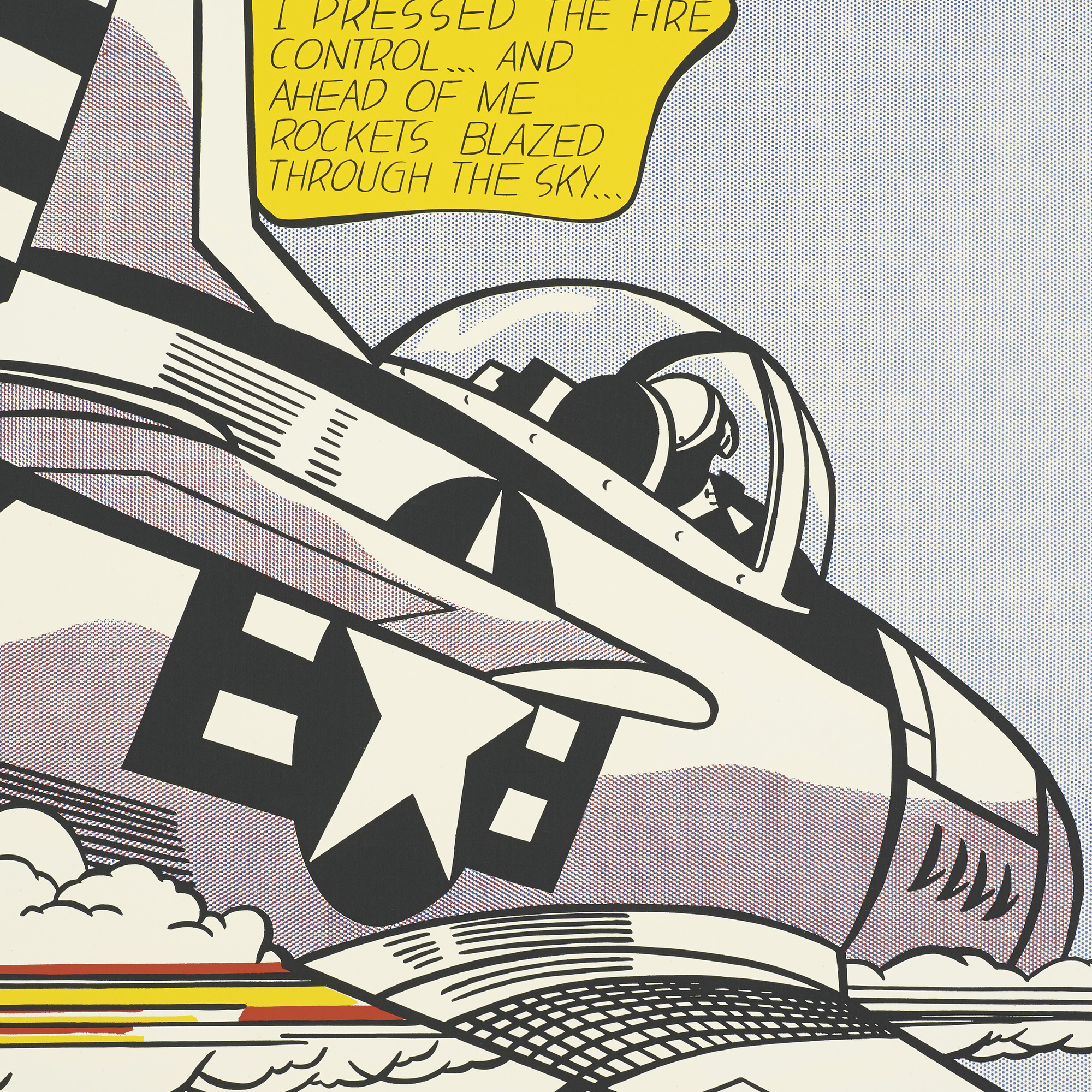 Auctions In Ohio >> 254: ROY LICHTENSTEIN, Whaam! (Diptych)