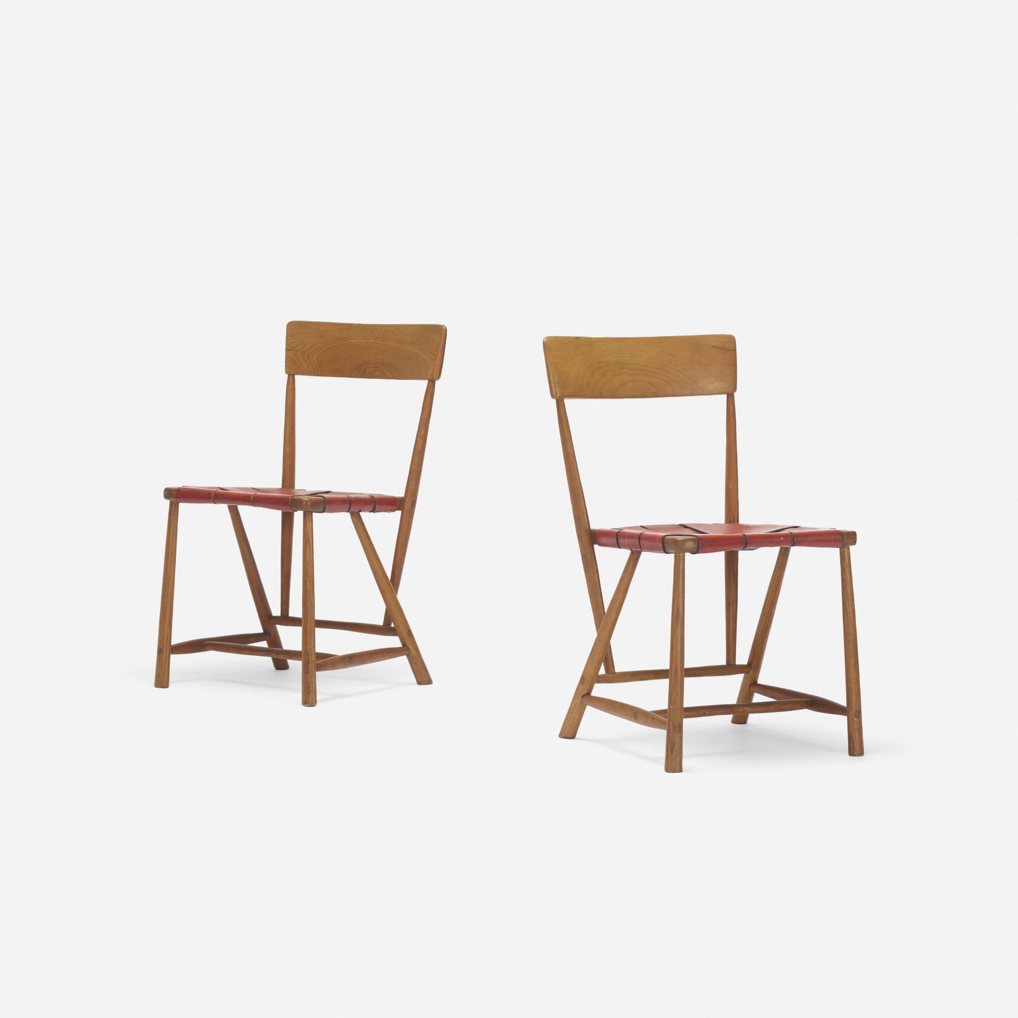 254: Wharton Esherick / Hammer Handle chairs, pair (2 of 4)