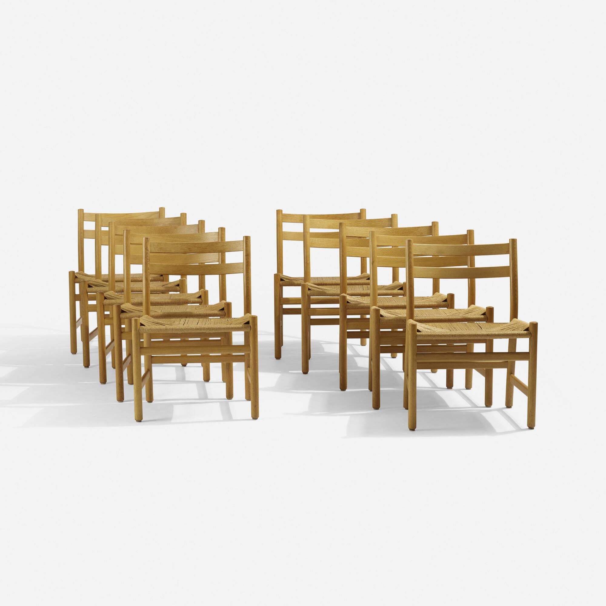 Merveilleux 255: Hans J. Wegner / Dining Chairs, Set Of Ten (1 Of