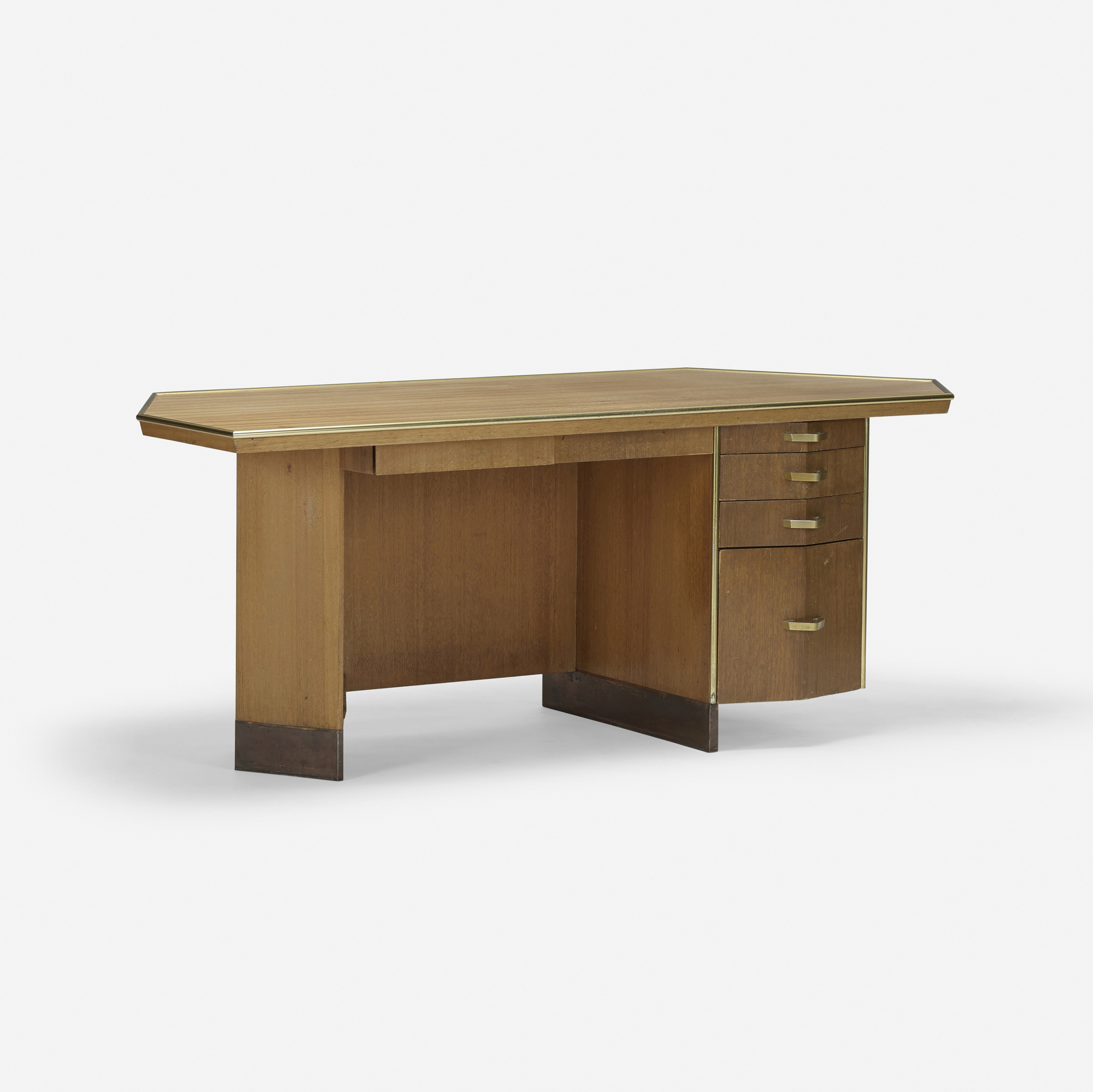 255: Frank Lloyd Wright / desk with wastepaper basket from Price Tower, Bartlesville, Oklahoma (1 of 4)