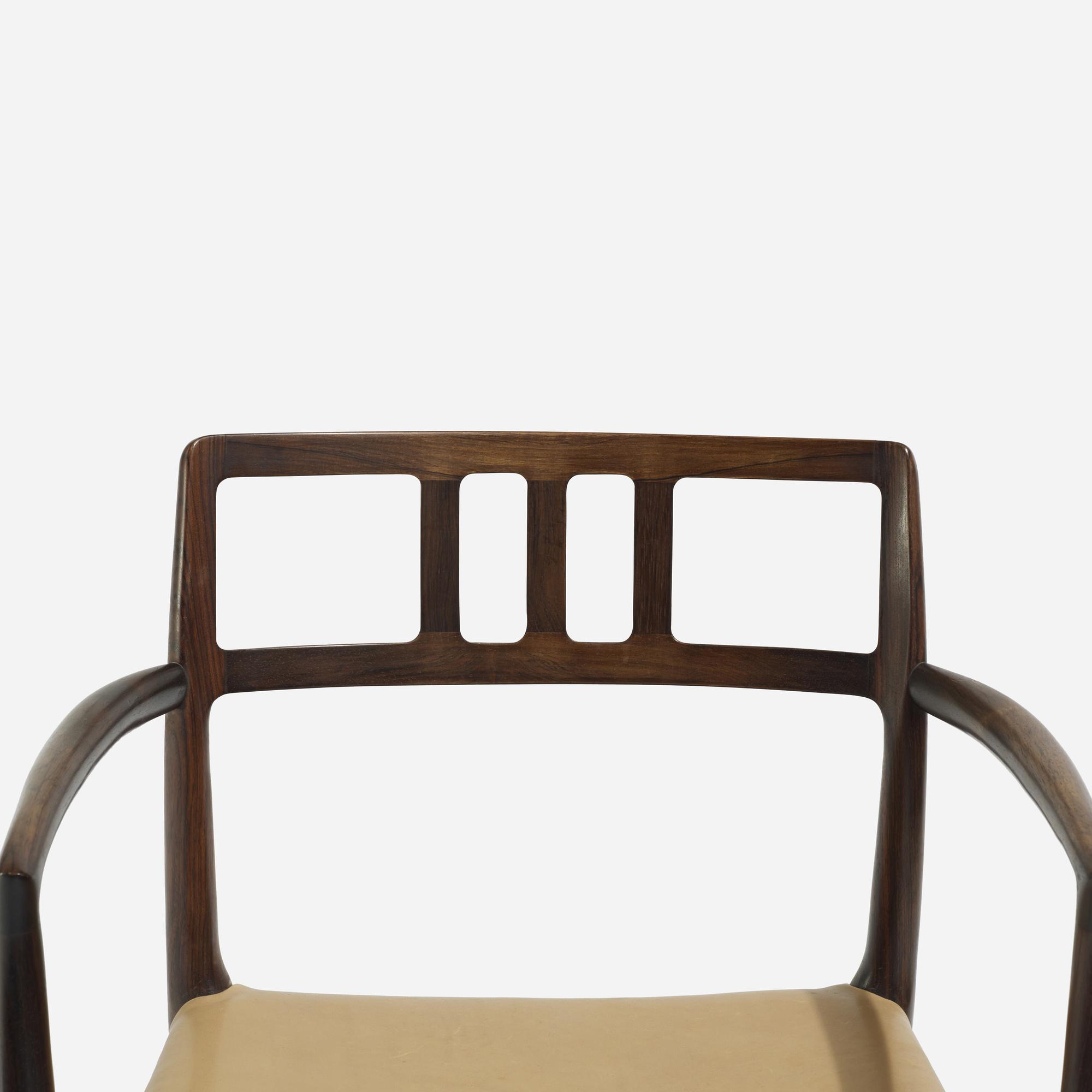 ... 255: Niels O. Møller / Chairs Model 66, Set Of Six (3