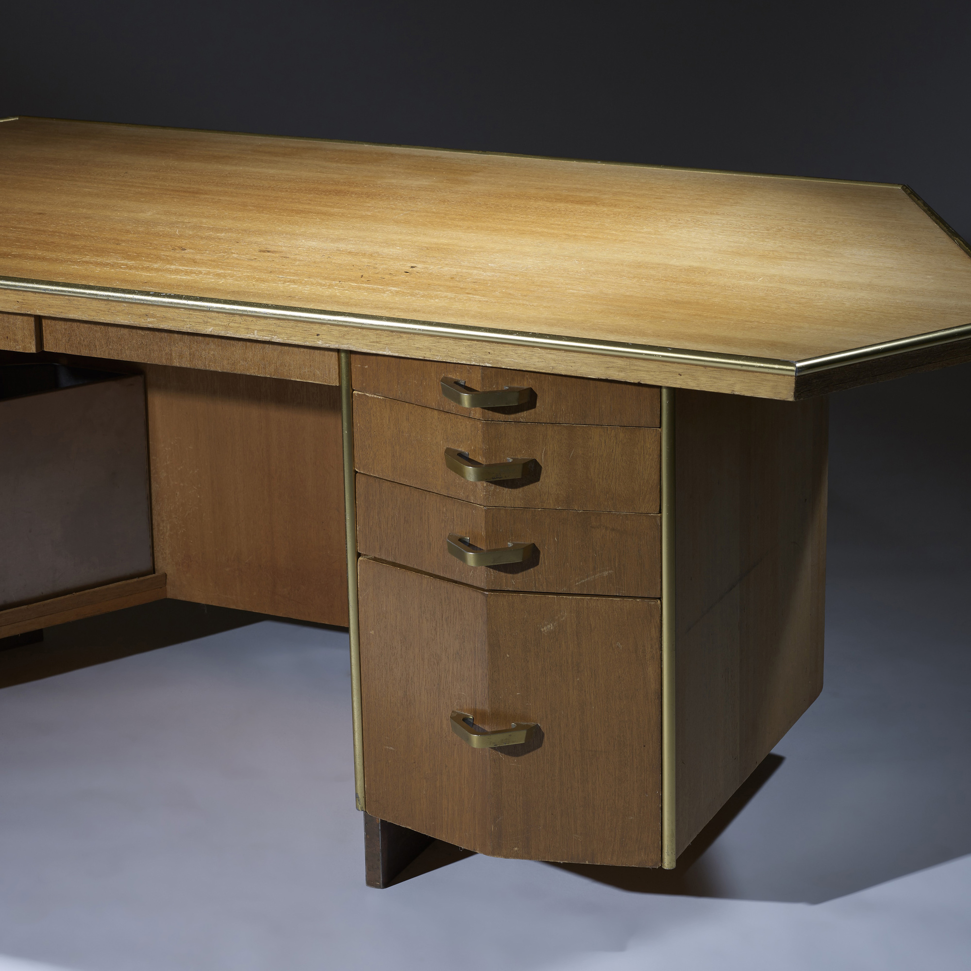 255: Frank Lloyd Wright / desk with wastepaper basket from Price Tower, Bartlesville, Oklahoma (3 of 4)