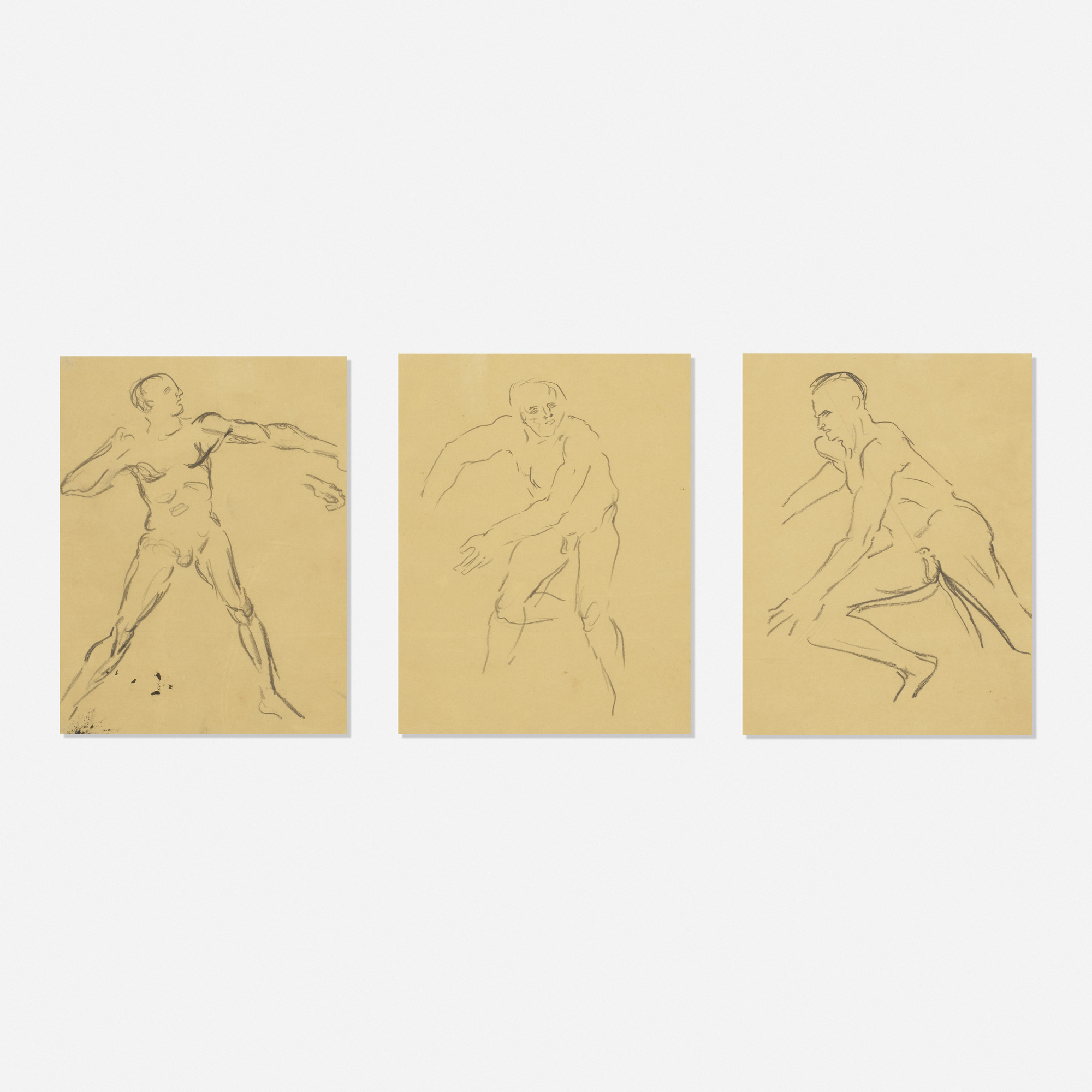 256: Leon Golub / Untitled (three works) (1 of 1)