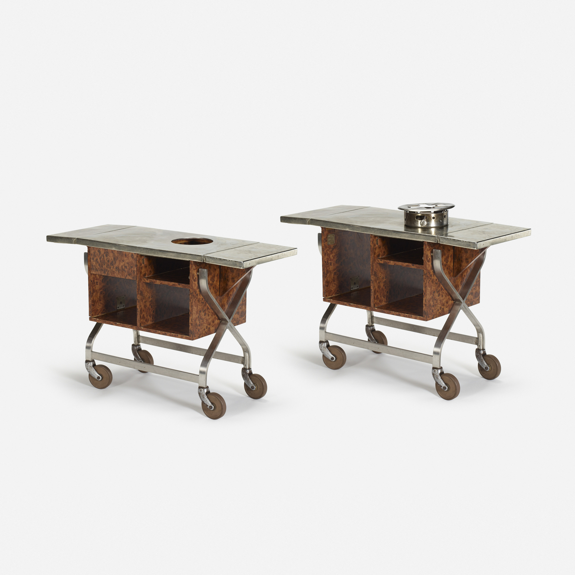 256: Garth and Ada Louise Huxtable / Serving carts from The Four Seasons, pair (1 of 1)