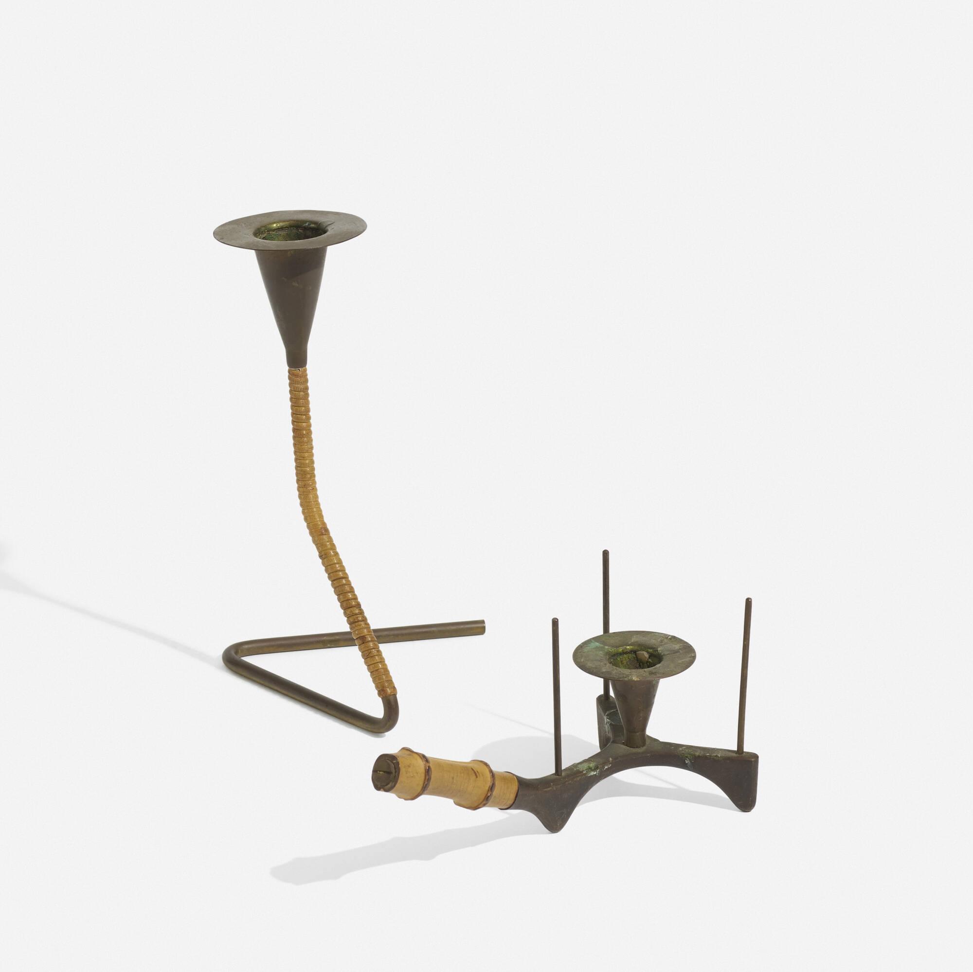 256: Carl Auböck II / candlesticks, pair (1 of 2)