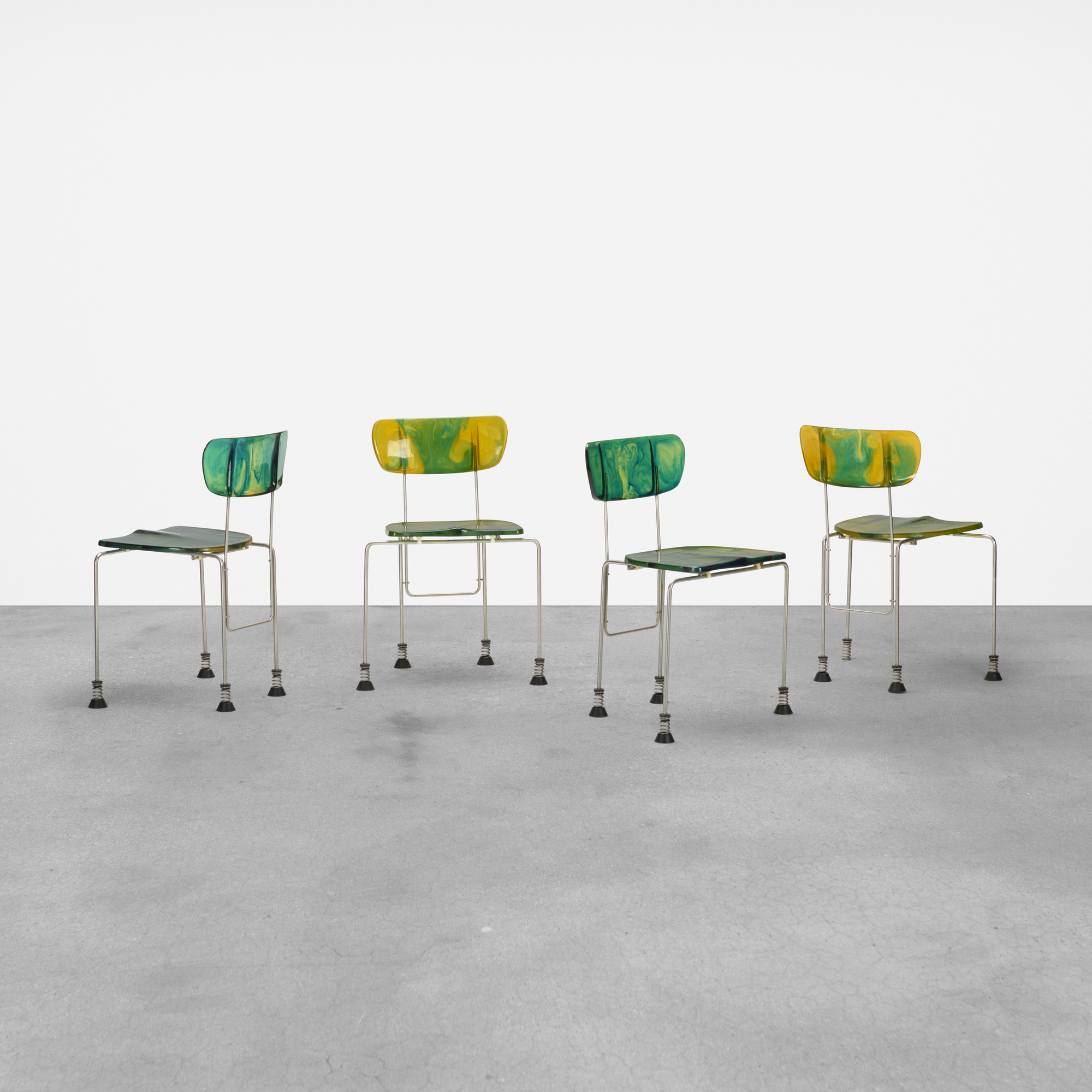 257: Gaetano Pesce / 543 Broadway chairs, set of four (1 of 5)