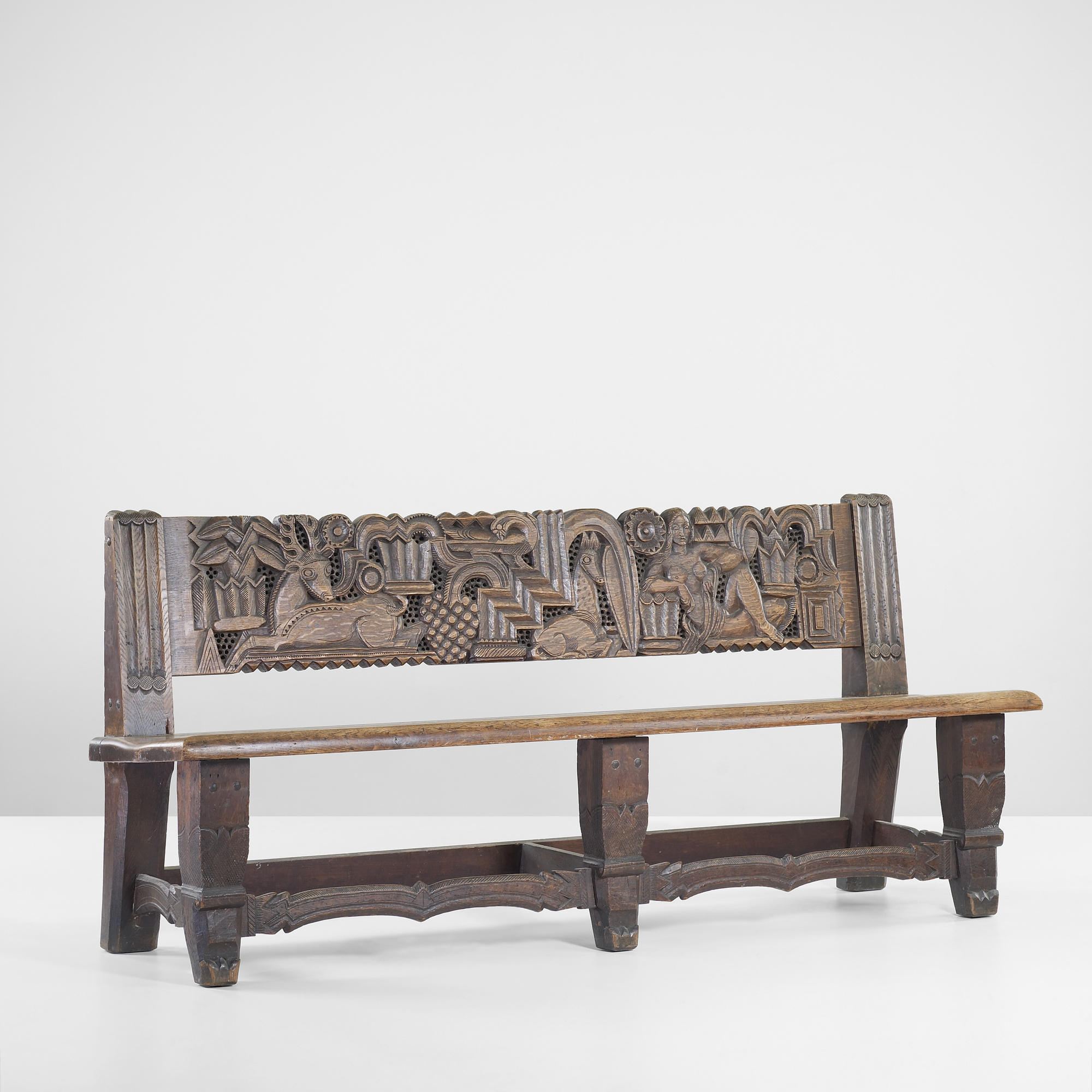 258 Edgar Miller Bench From The Normandy House Chicago Important Design 9 June 2011 Auctions Wright Auctions Of Art And Design