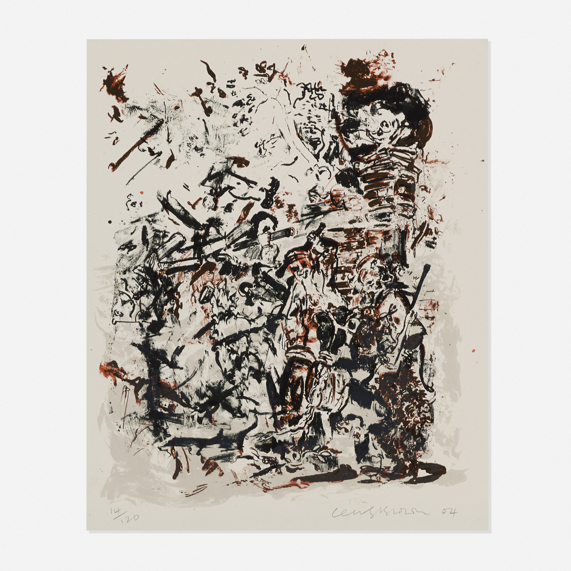 258: Cecily Brown / Study after an Election by William Hogarth (1 of 2)