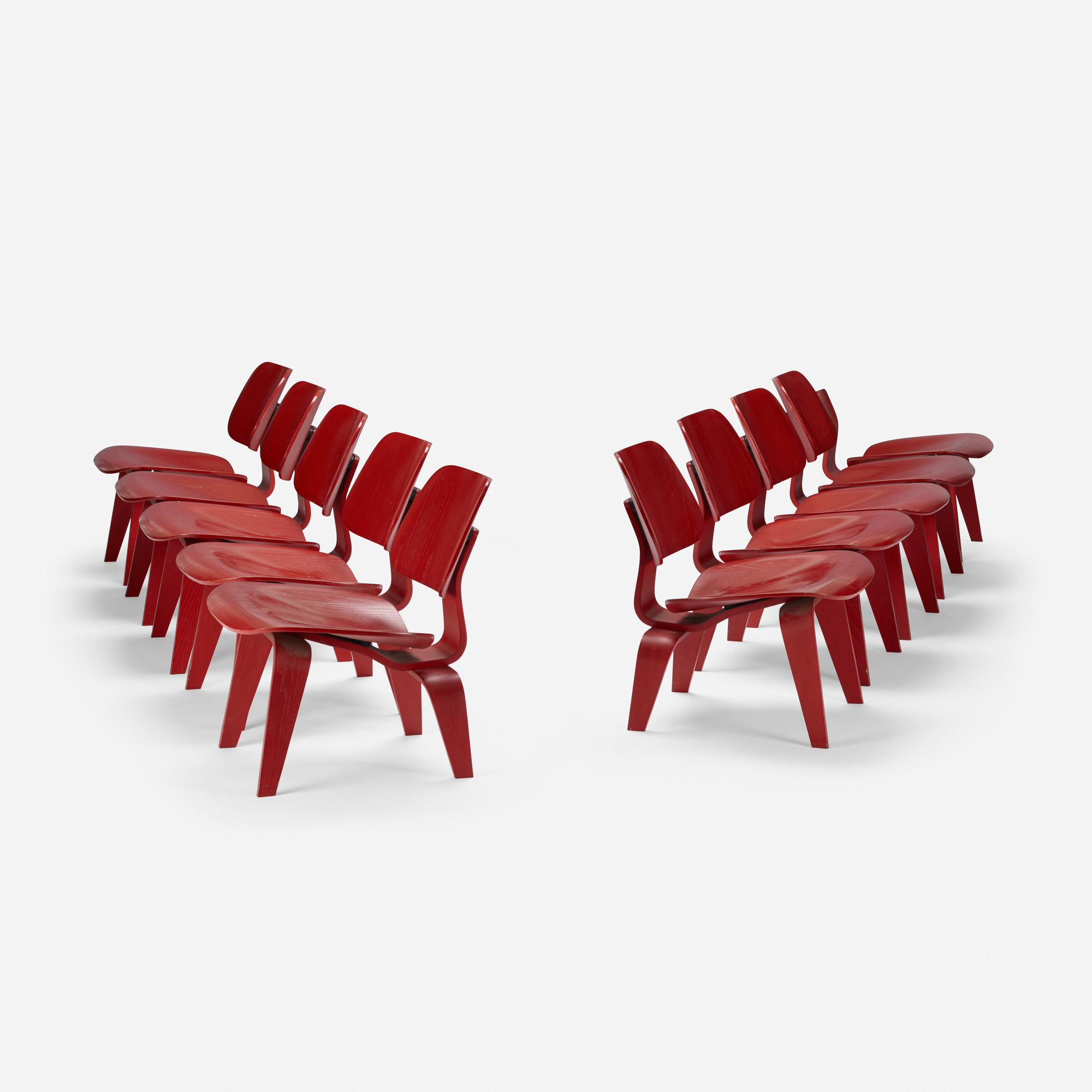 259: Charles and Ray Eames / LCWs, set of ten (1 of 3)