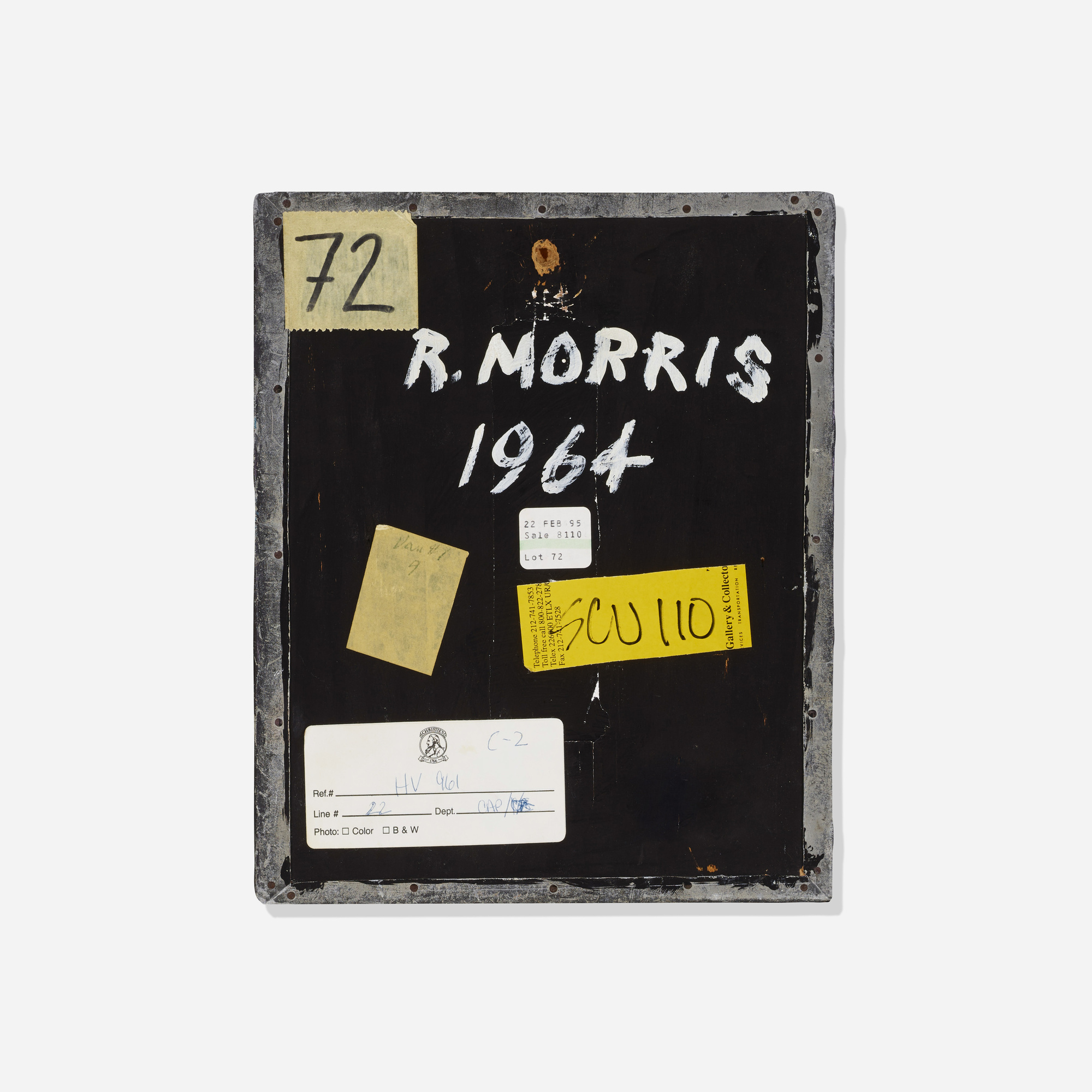 25: ROBERT MORRIS, Untitled < The Boyd Collection – I  Masterworks