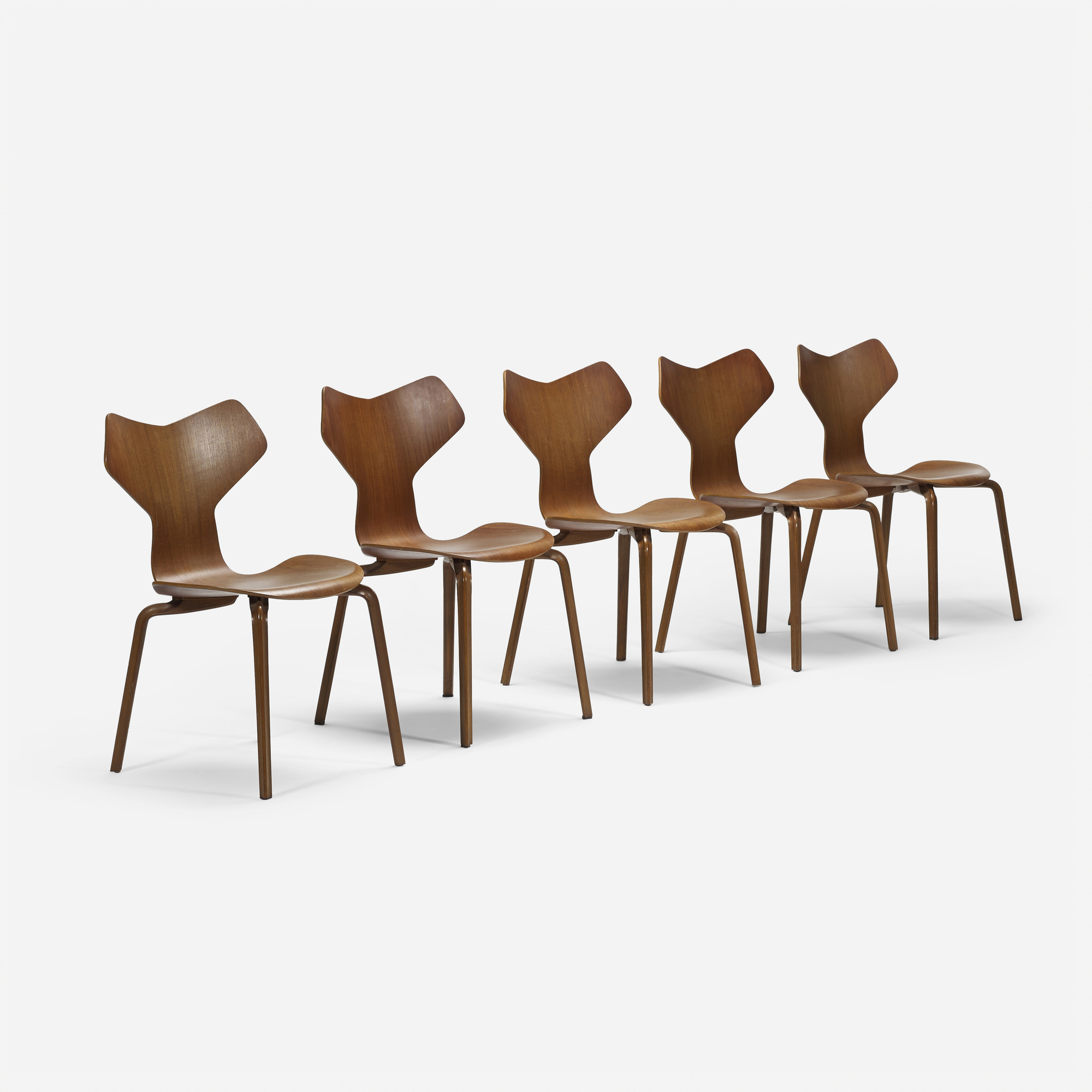 260: Arne Jacobsen / Grand Prix chairs, set of five (1 of 4)