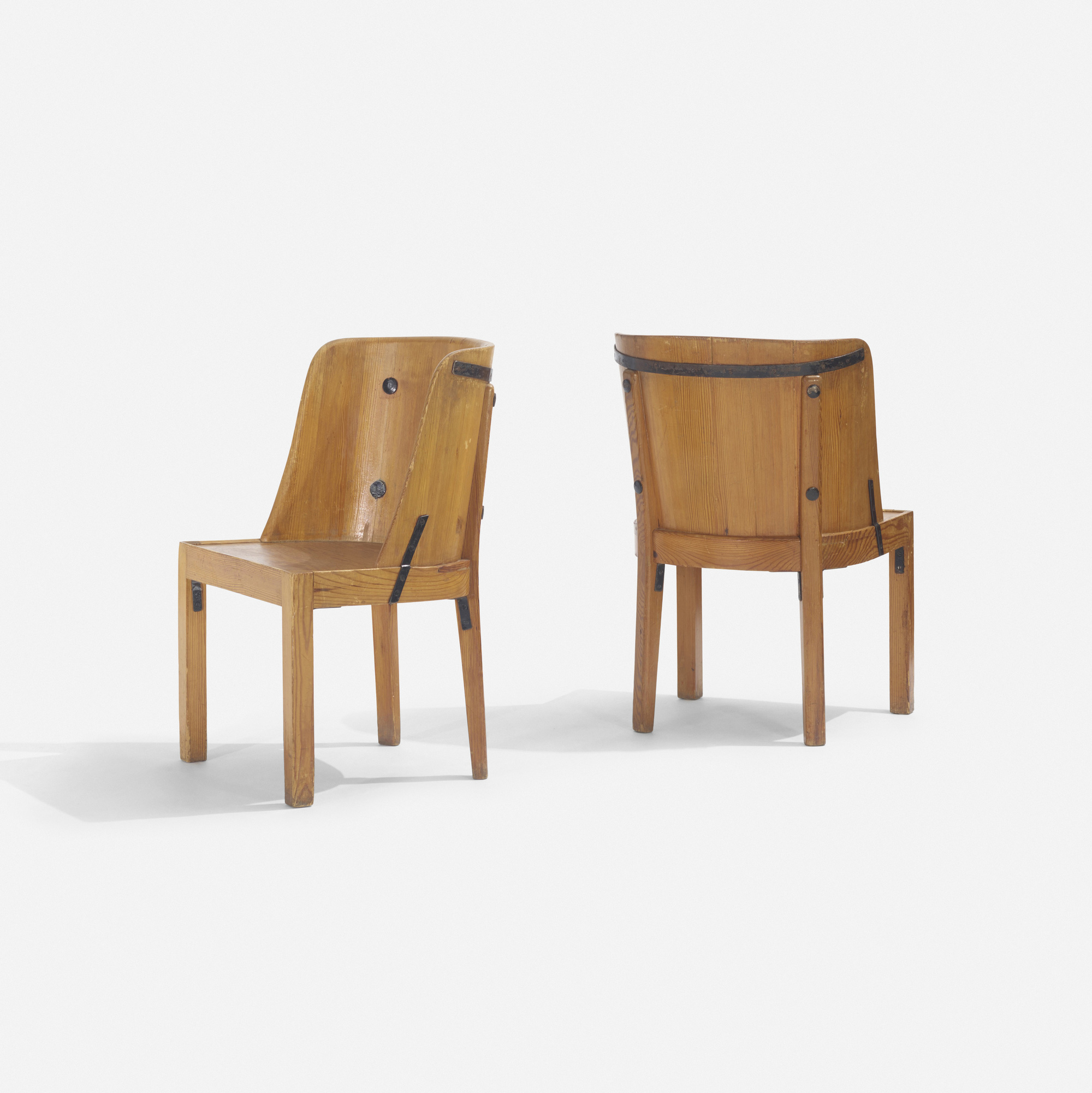 260: Axel Einar Hjorth / Lovö chairs, pair (1 of 3)