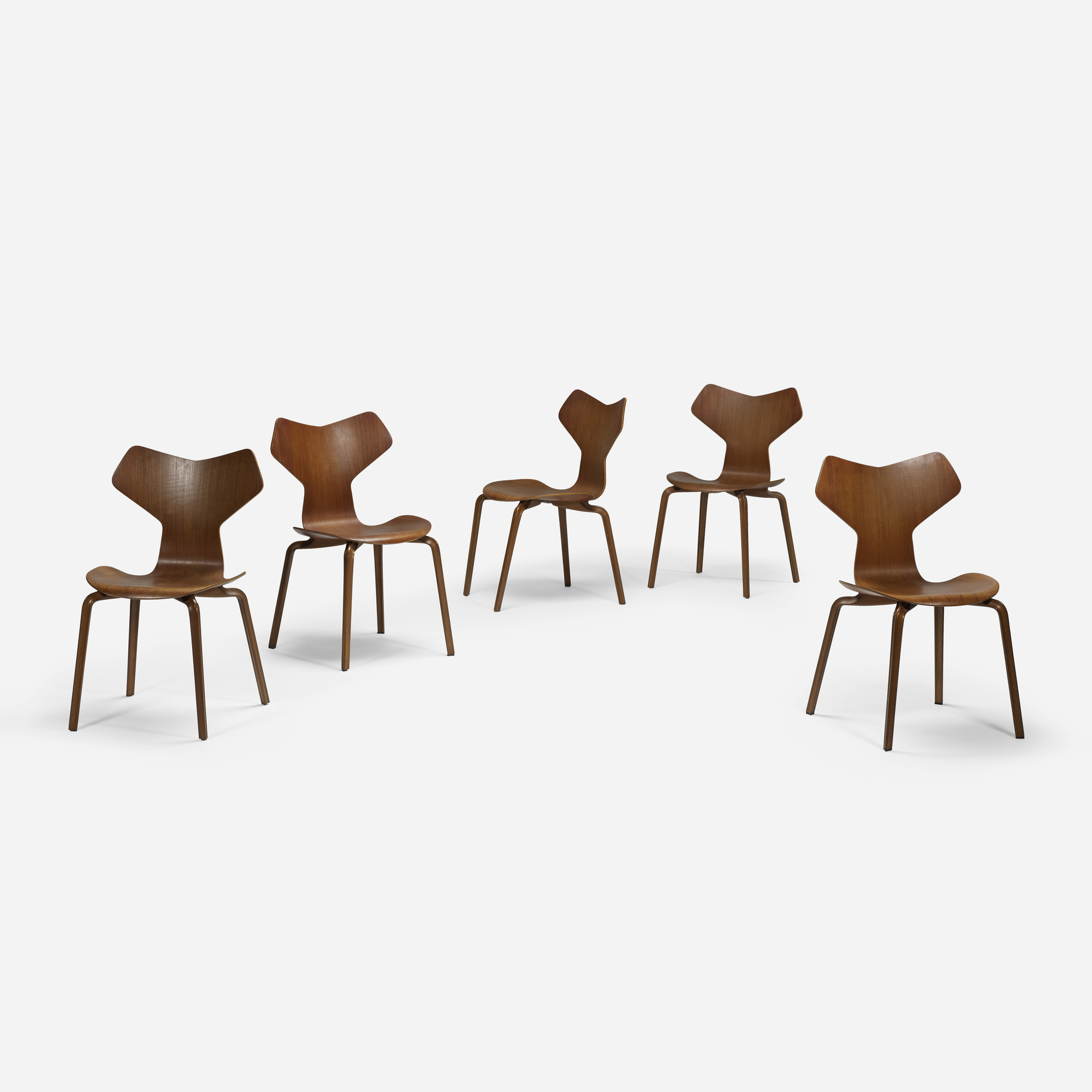 260: Arne Jacobsen / Grand Prix chairs, set of five (2 of 4)