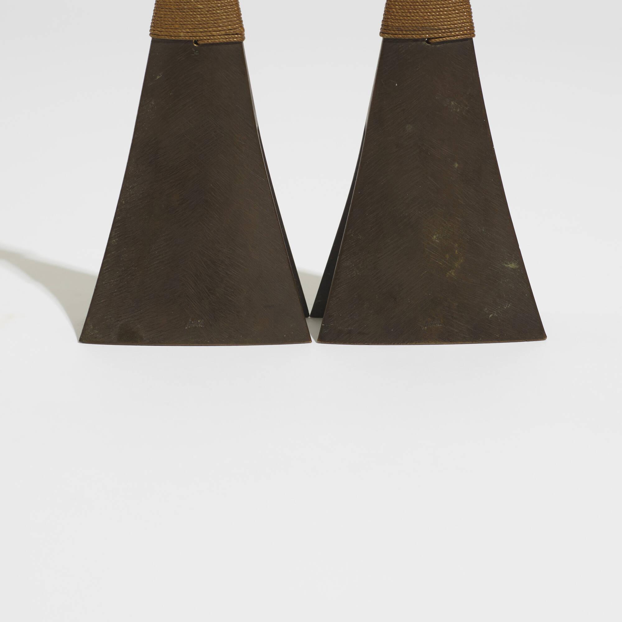 260: Carl Auböck II / rare candlesticks model 3502, pair (3 of 3)