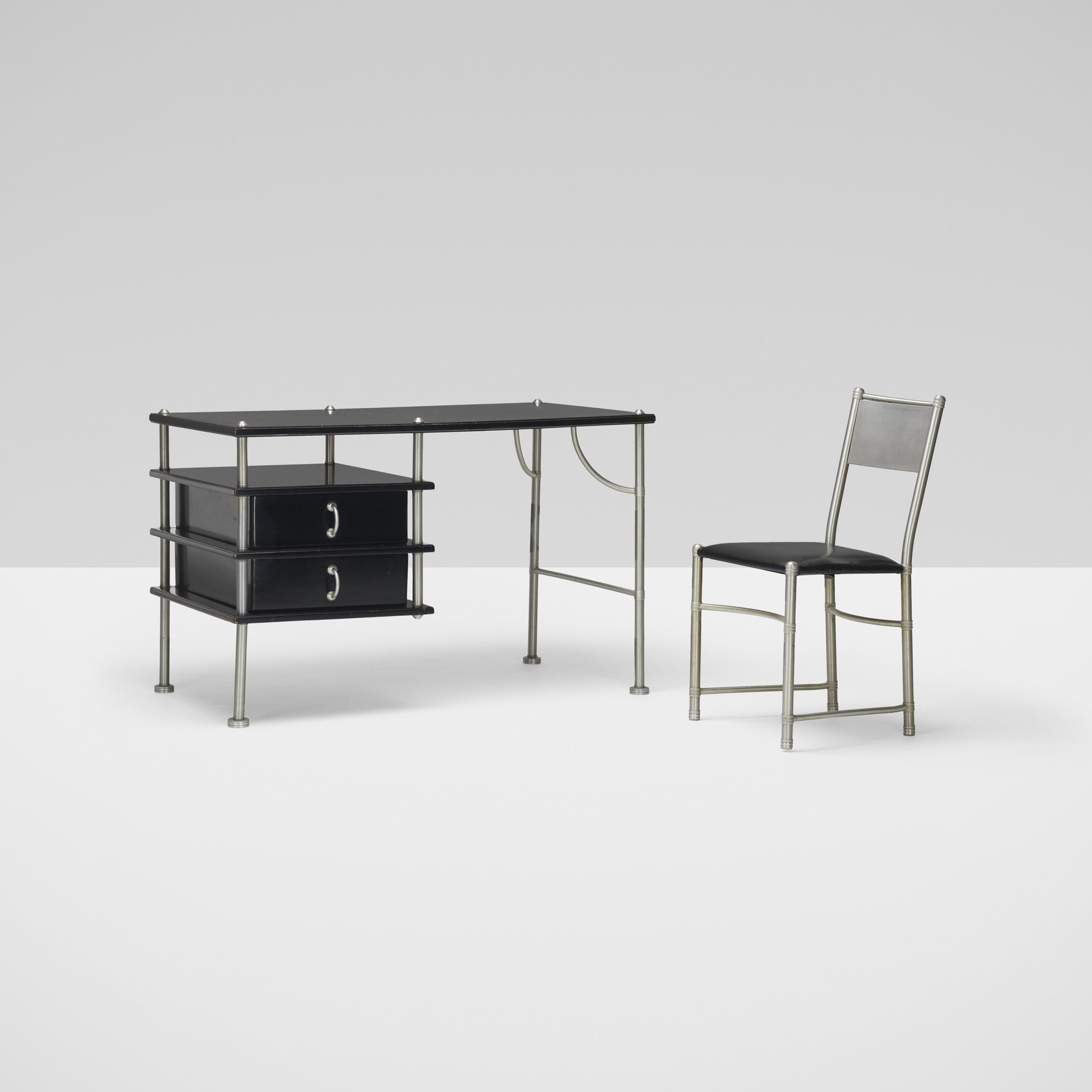 261: Warren McArthur / desk and chair, model 1111 (1 of 3)