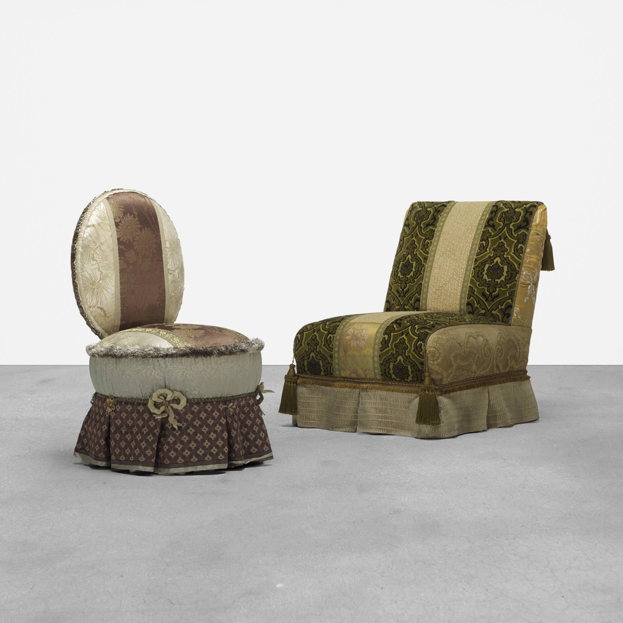 261: Muriel Brandolini / pair of lounge chairs (1 of 3)