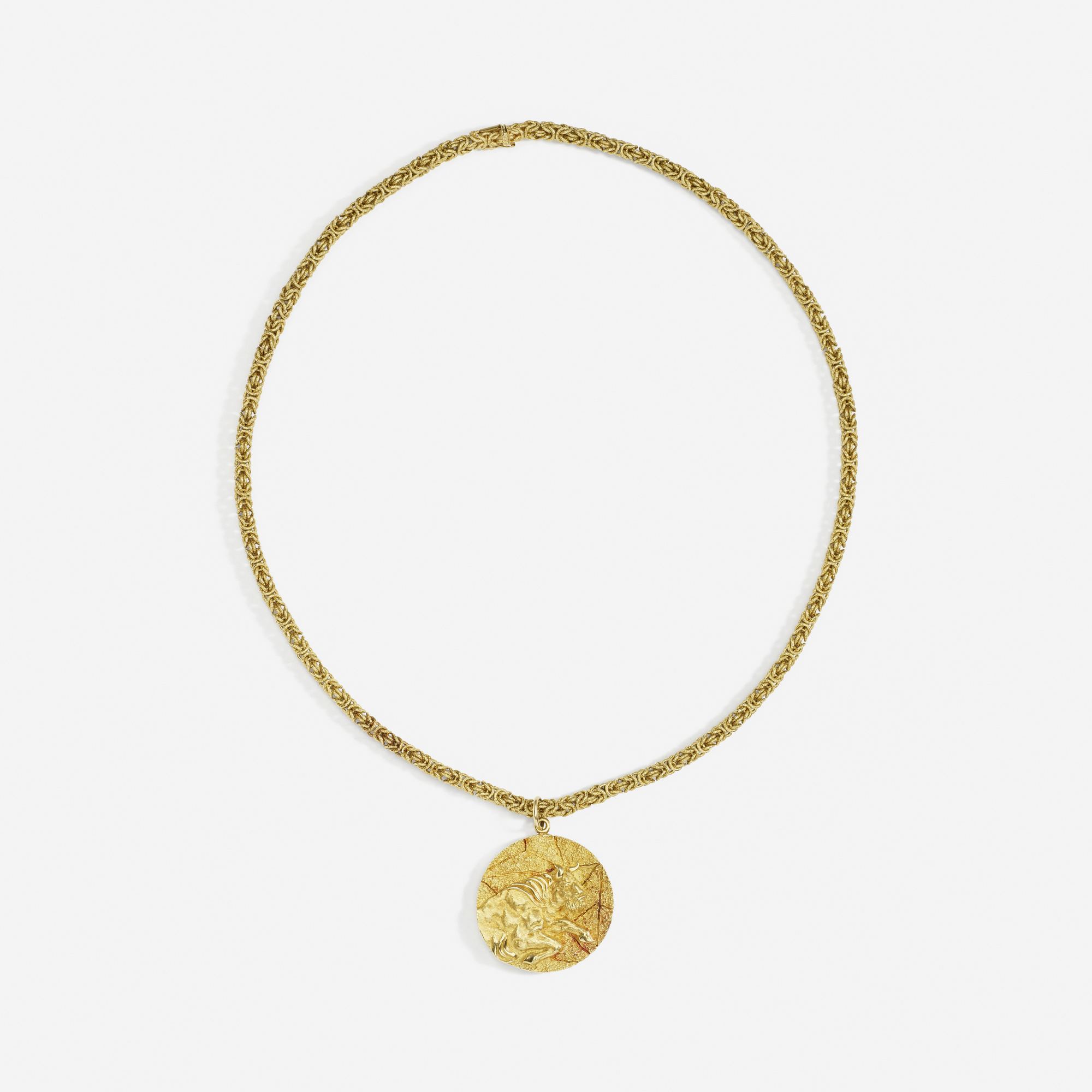 261: Tiffany & Co. / A gold Taurus necklace (3 of 3)