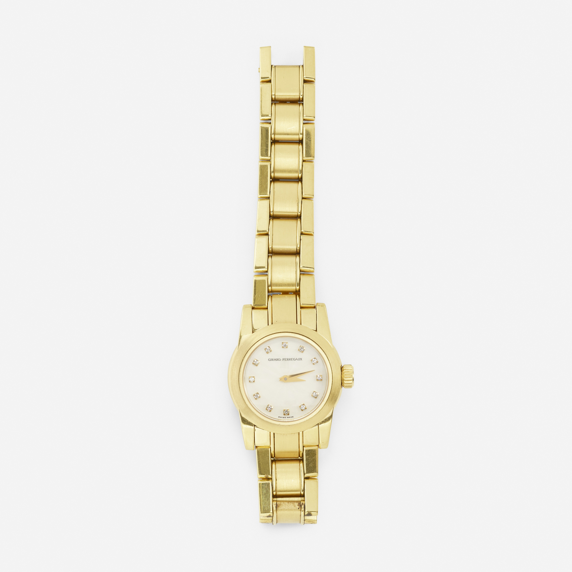 262: Girard-Perregaux / A gold, silver and diamond watch (1 of 1)