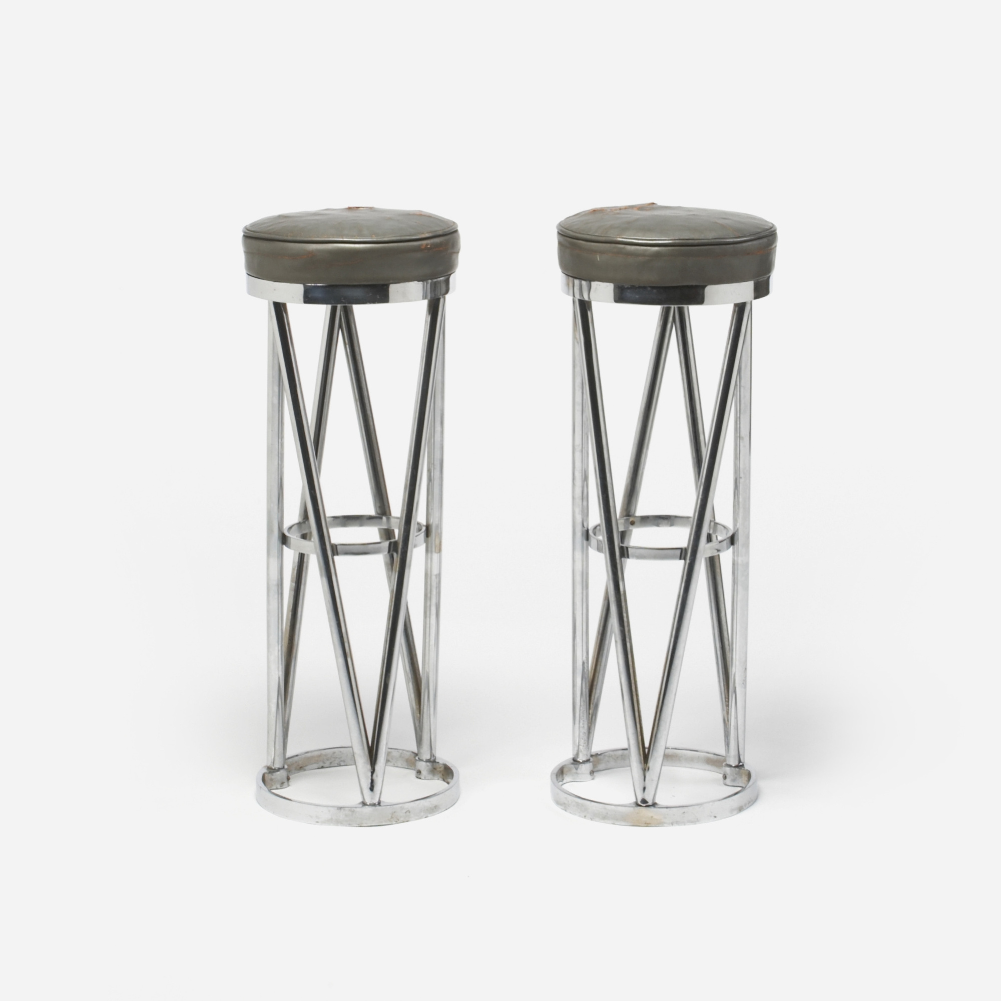 262: French / stools, pair (1 of 1)