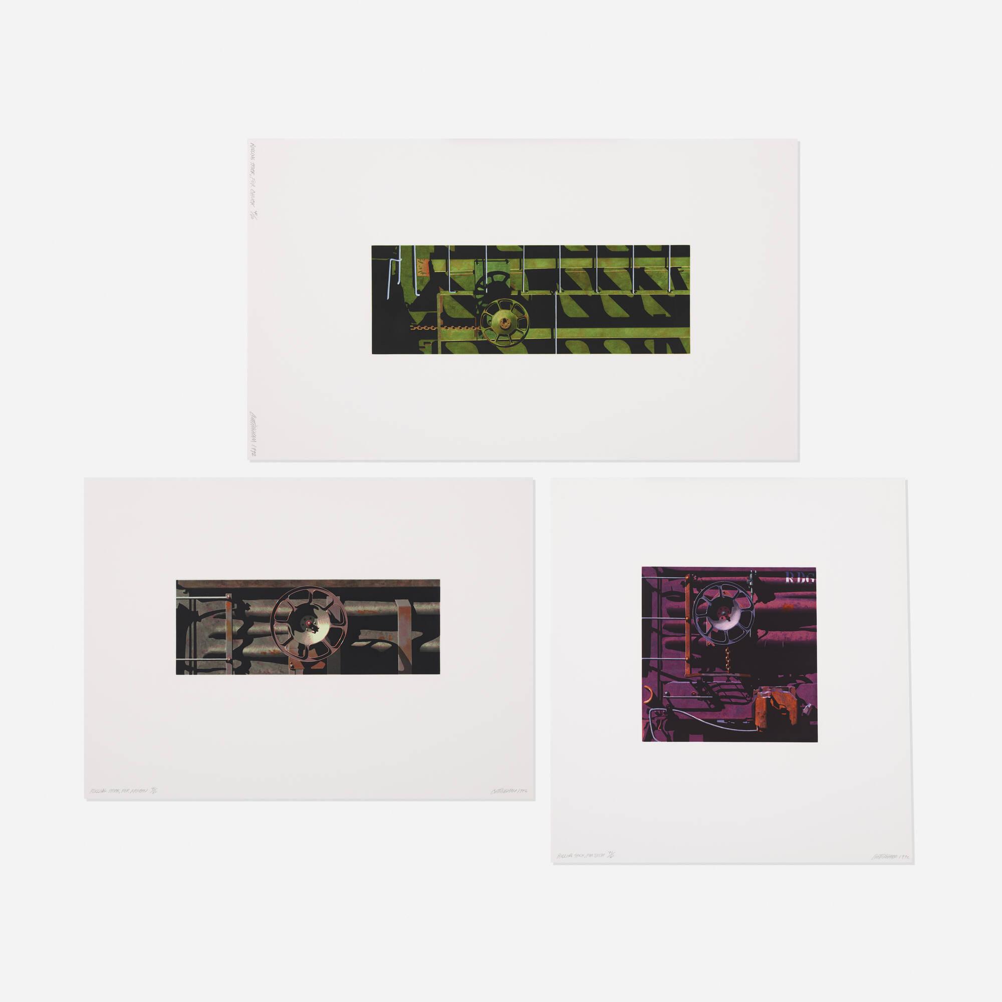 263: Robert Cottingham / Rolling Stock (three works) (1 of 1)