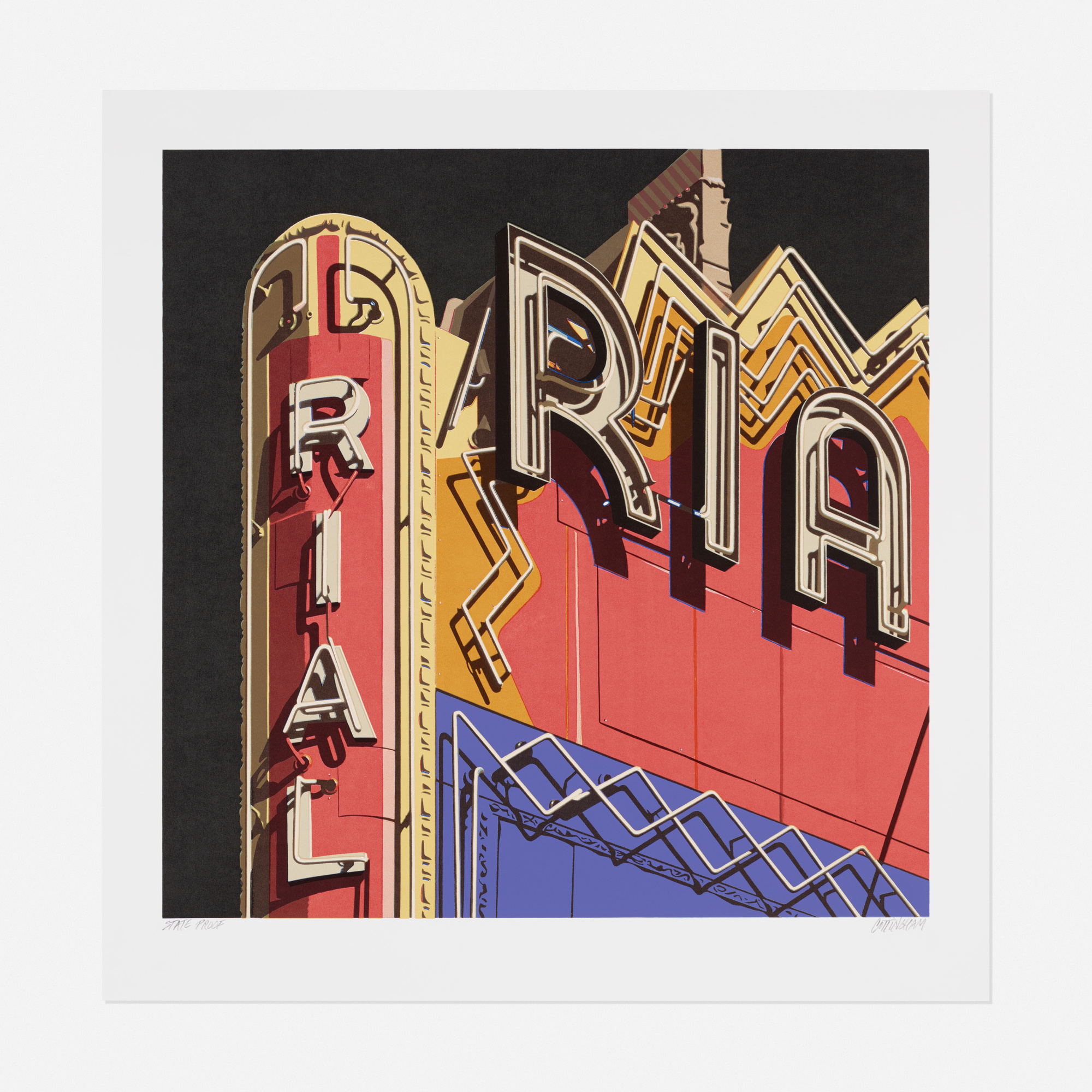 264: Robert Cottingham / Rialto (from the American Signs portfolio) (1 of 1)