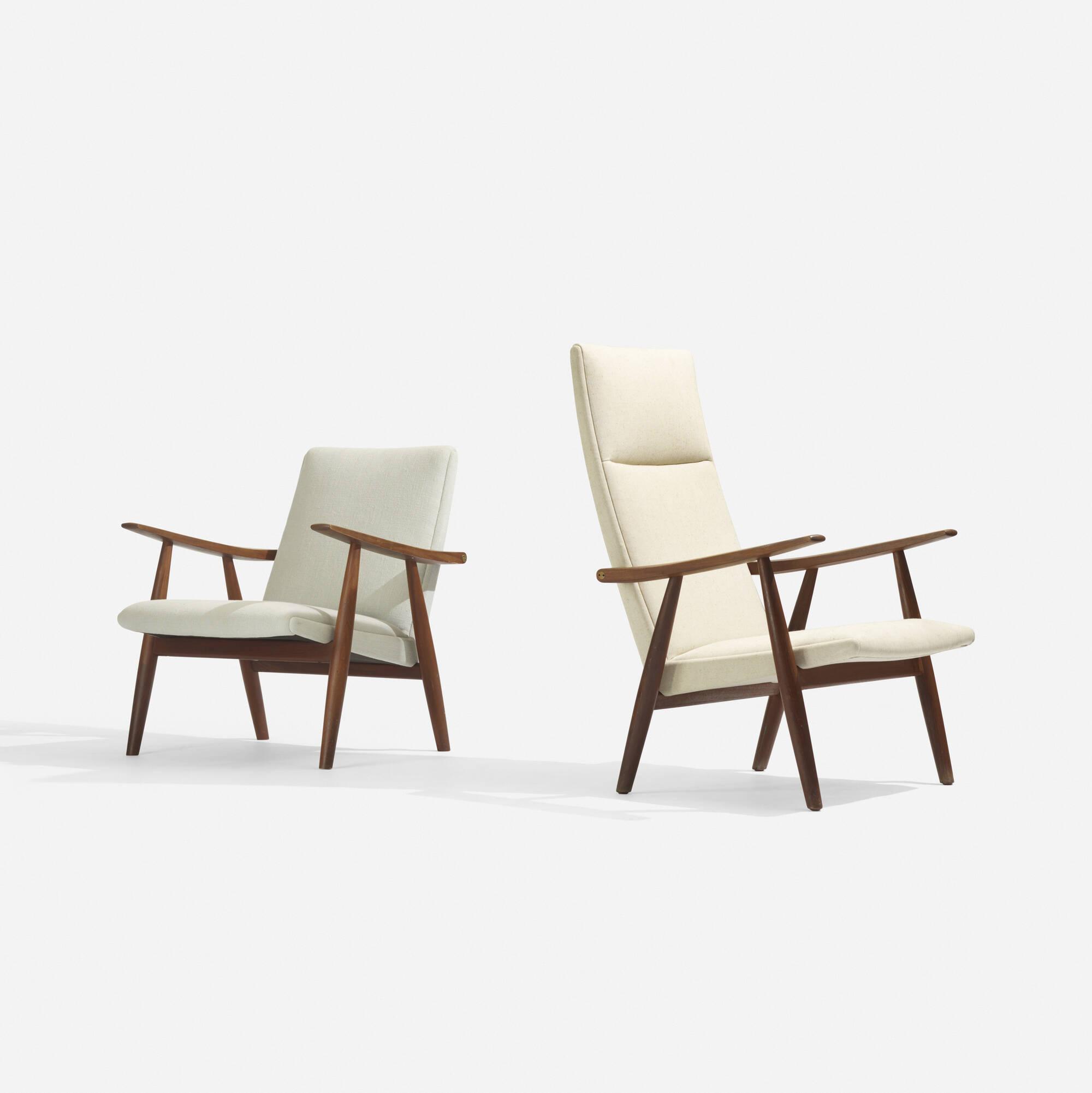 264: Hans J. Wegner / Lounge Chair, Model GE260 And Lounge Chair,