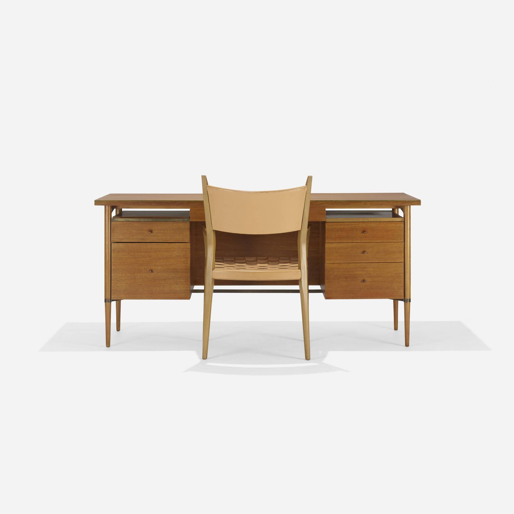 ... 264: Paul McCobb / Connoisseur Collection Desk, Model 7021 And Armchair,  Model 9102