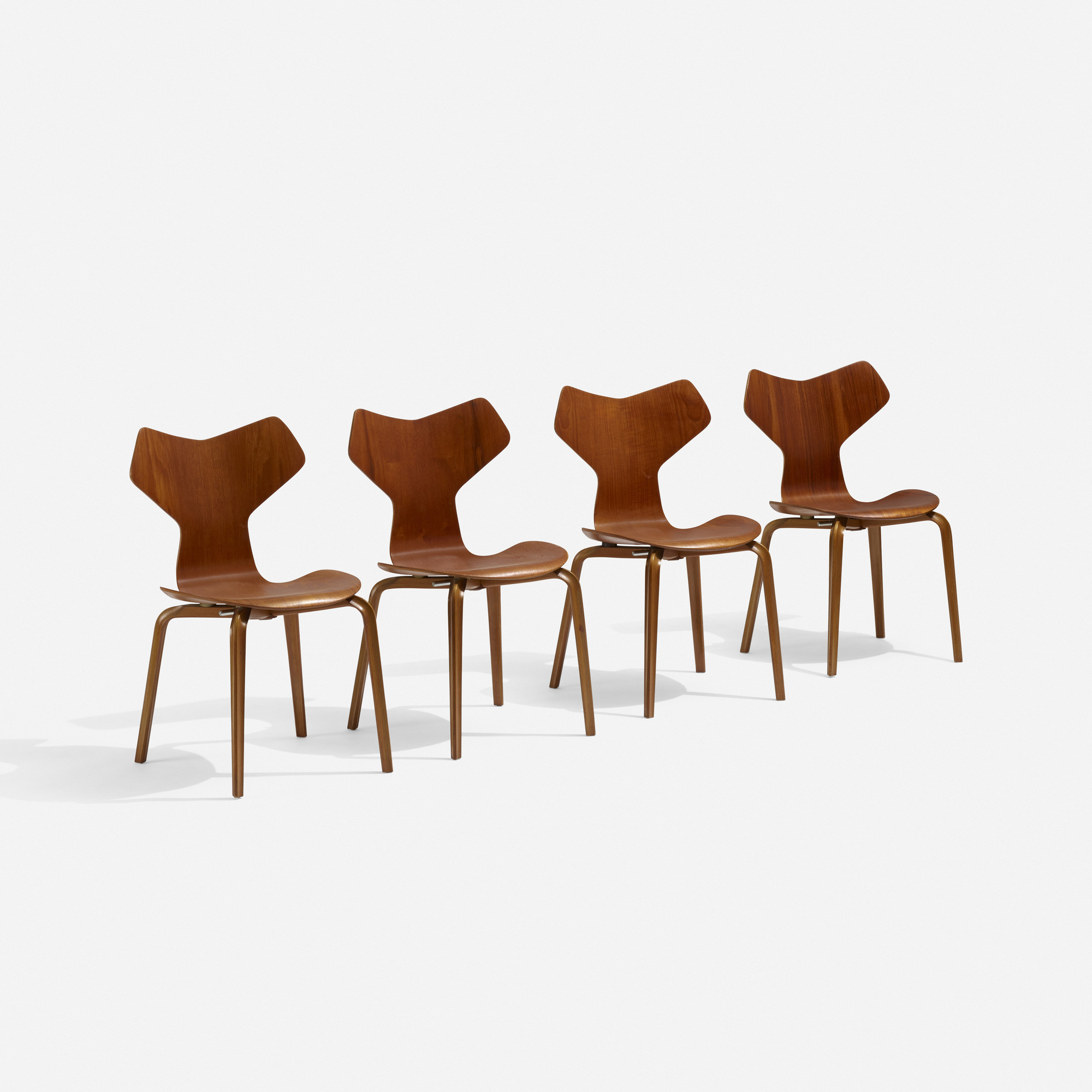 264 Arne Jacobsen Grand Prix Dining Chairs Set Of Four 2