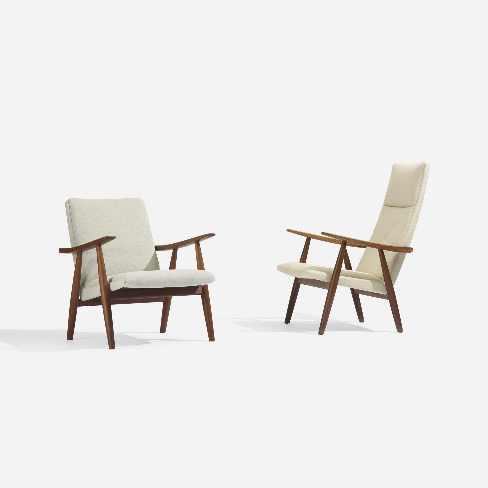 264 hans j wegner lounge chair model ge260 and lounge chair
