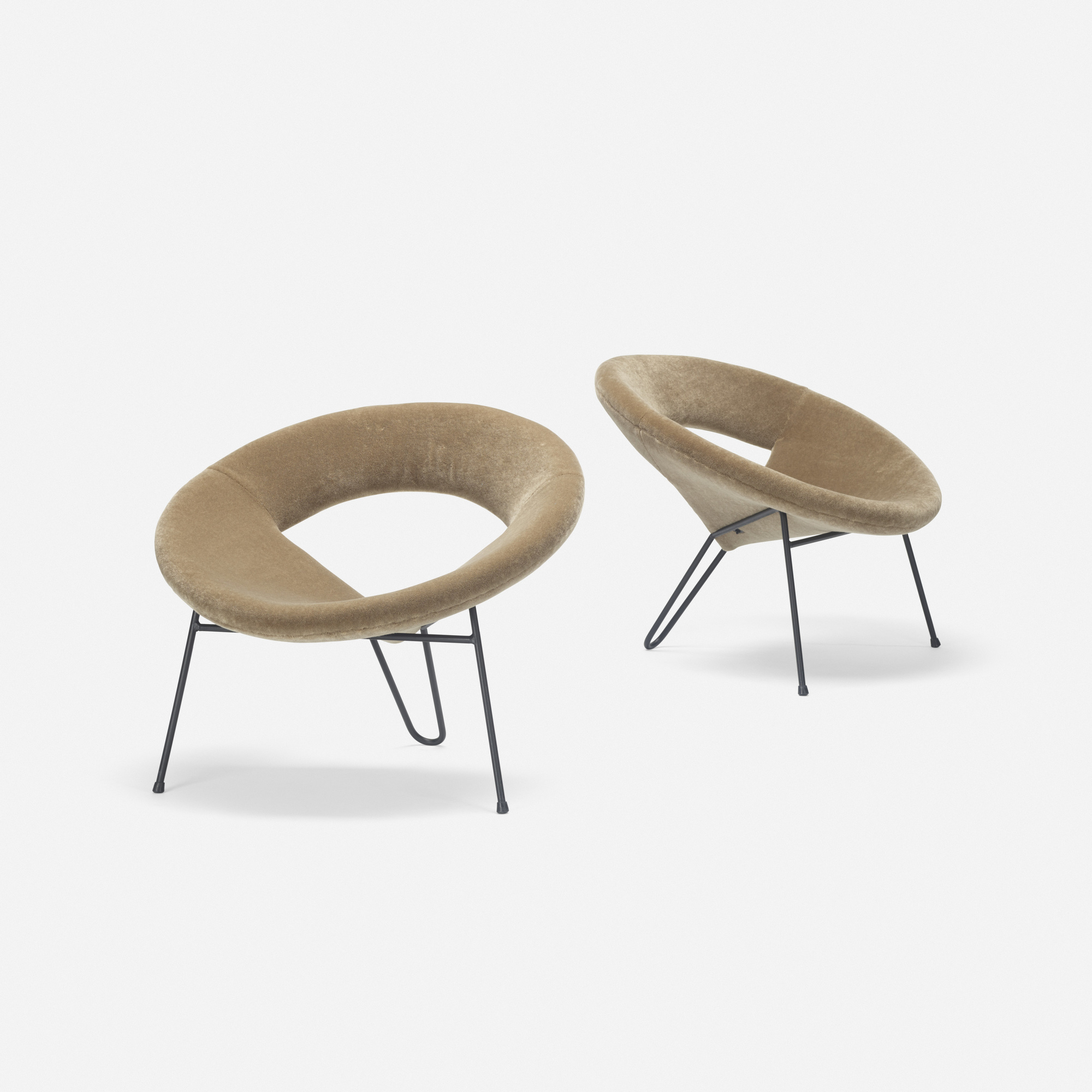 265: Henri Lancel / Satellite lounge chairs, pair (1 of 3)