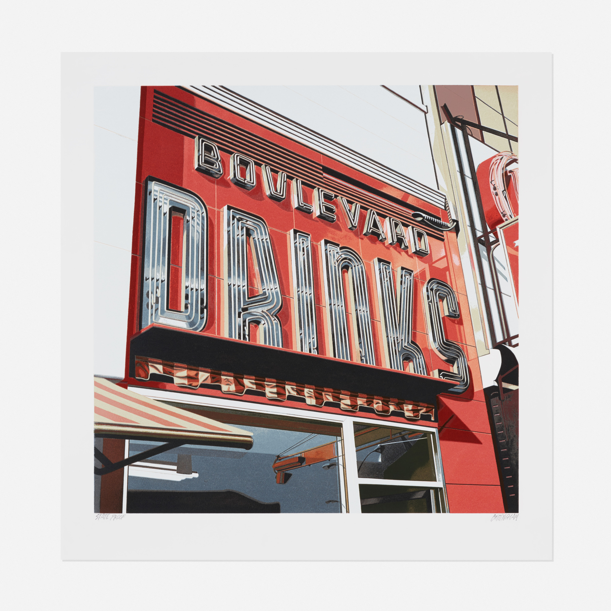 265: Robert Cottingham / Boulevard Drinks (from the American Signs portfolio) (1 of 1)