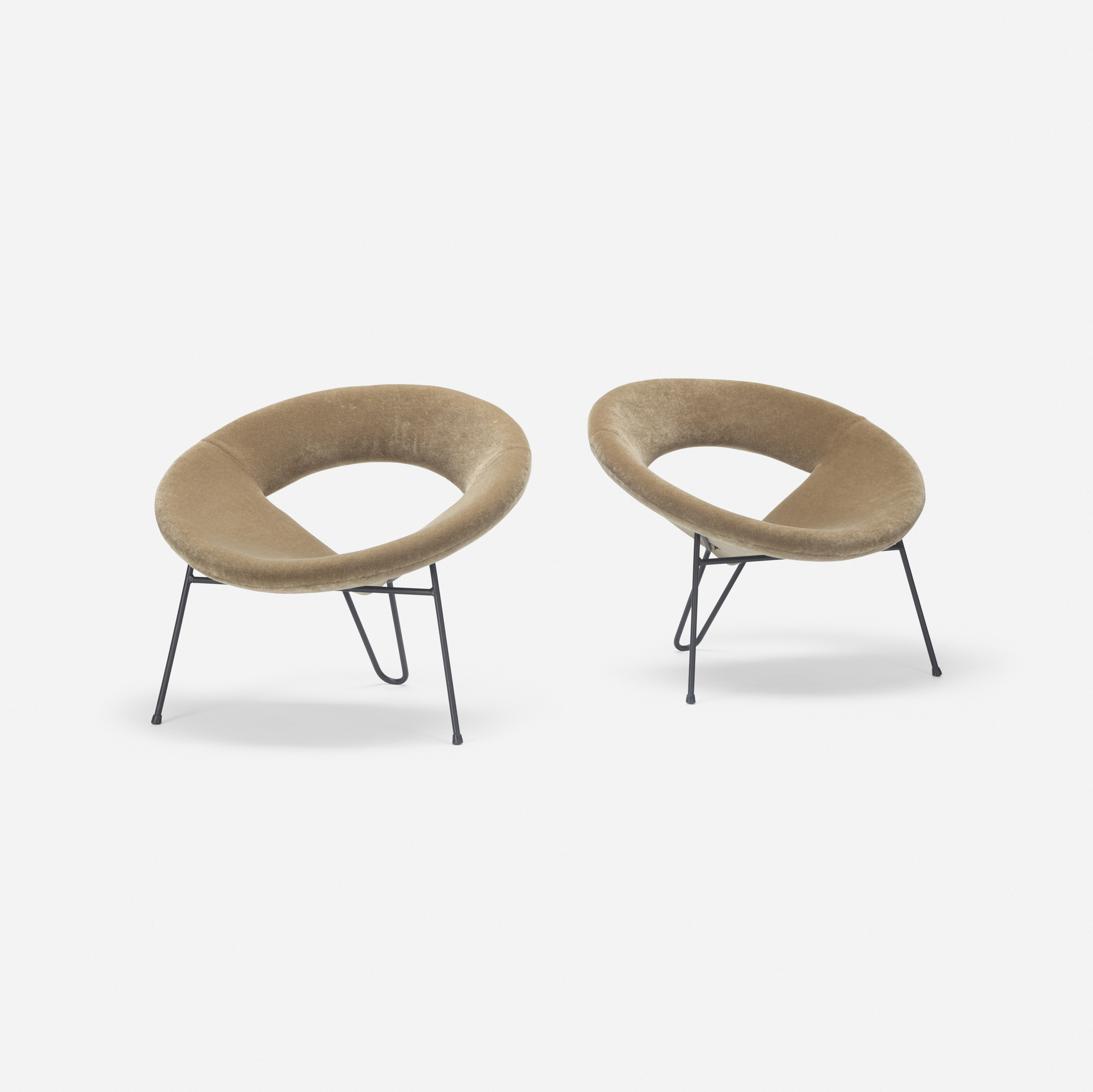 265: Henri Lancel / Satellite lounge chairs, pair (2 of 3)