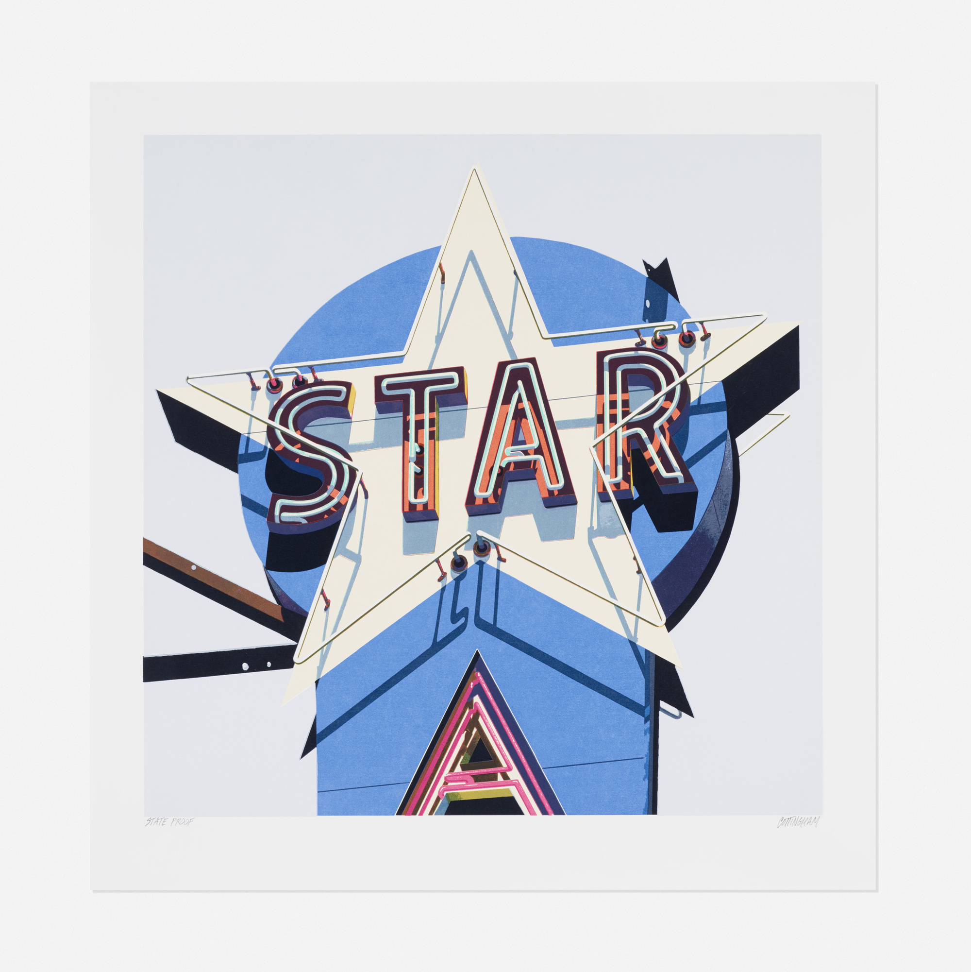 266: Robert Cottingham / Star (from the American Signs portfolio) (1 of 1)
