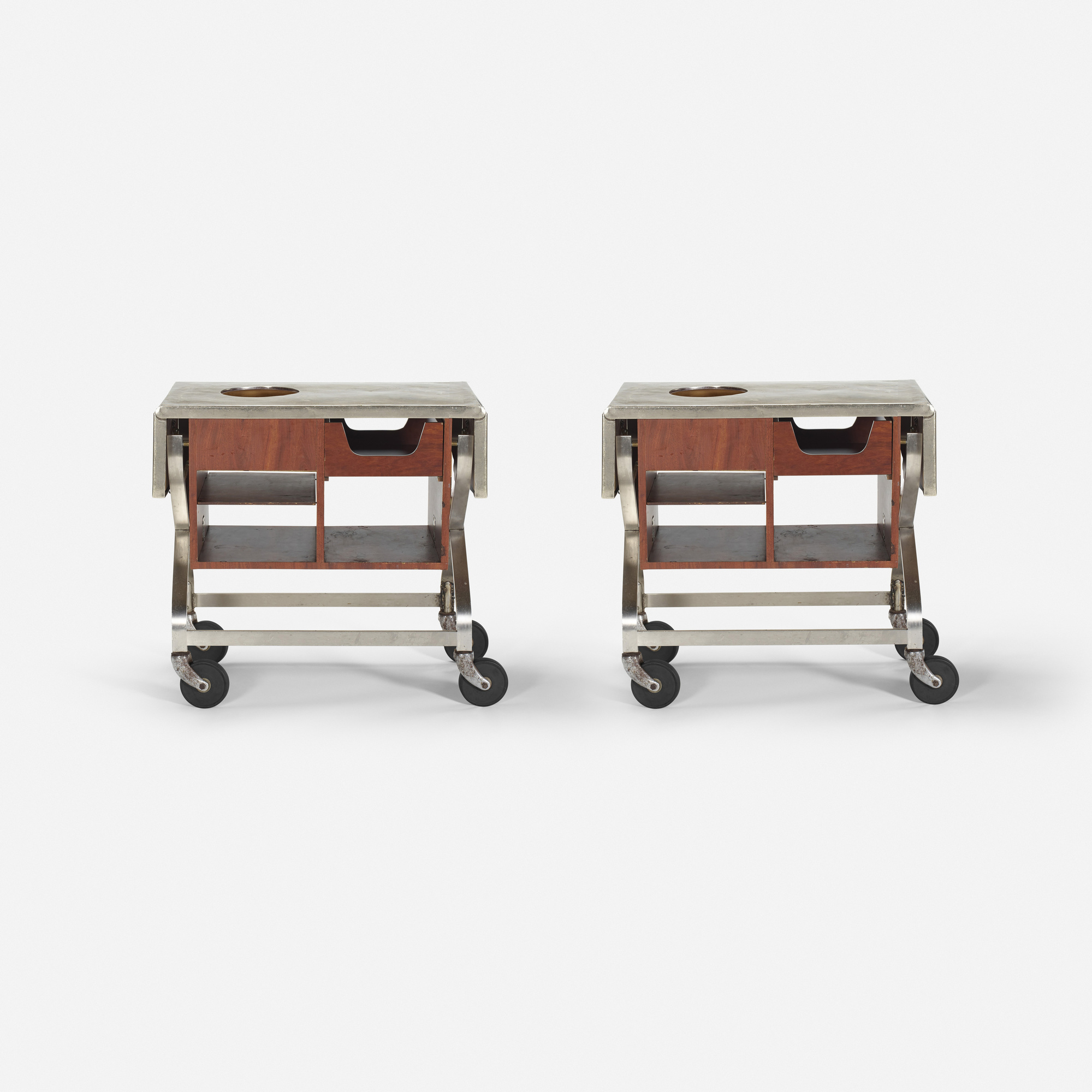 266: Garth and Ada Louise Huxtable / Serving carts from The Four Seasons, pair (1 of 1)