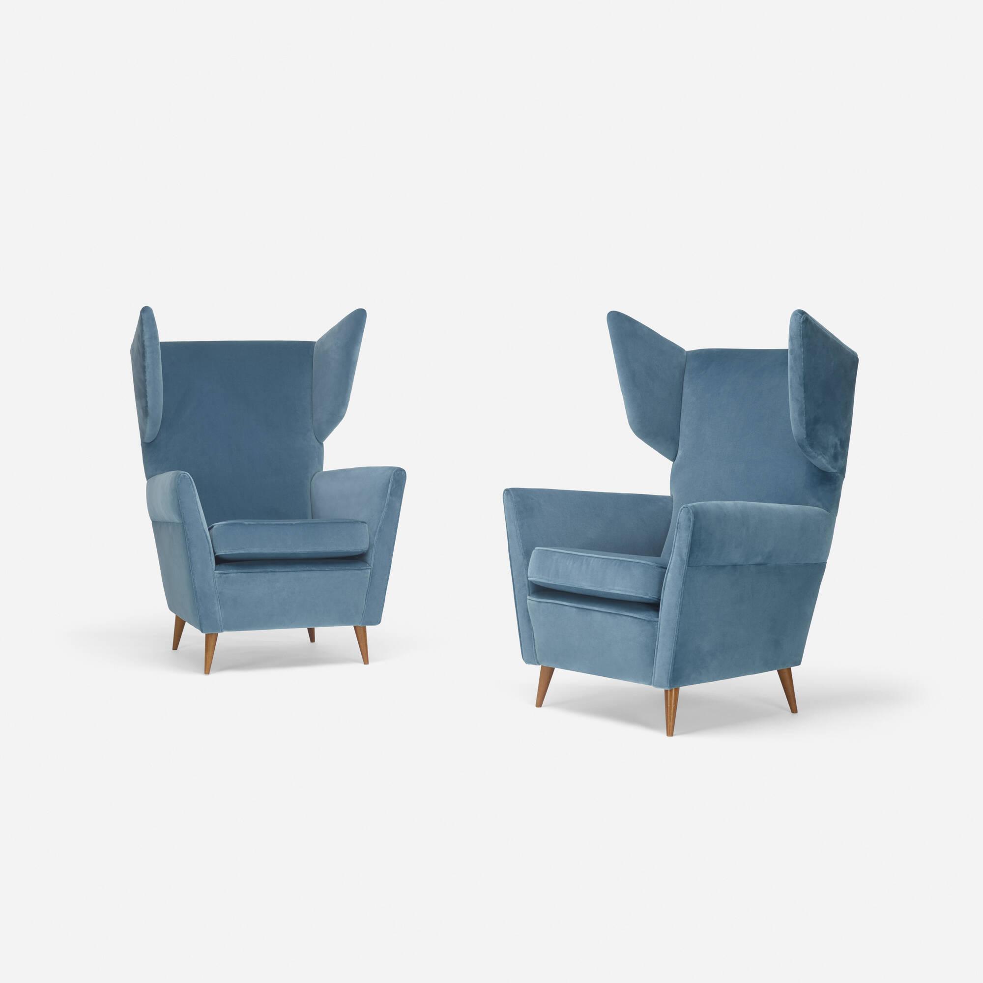 268: Gio Ponti / lounge chairs, pair (1 of 3)