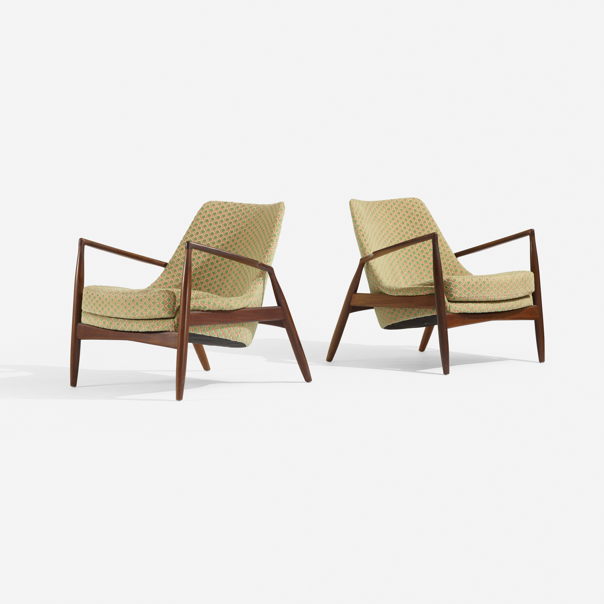 268: Ib Kofod-Larsen / lounge chairs, pair (1 of 4)